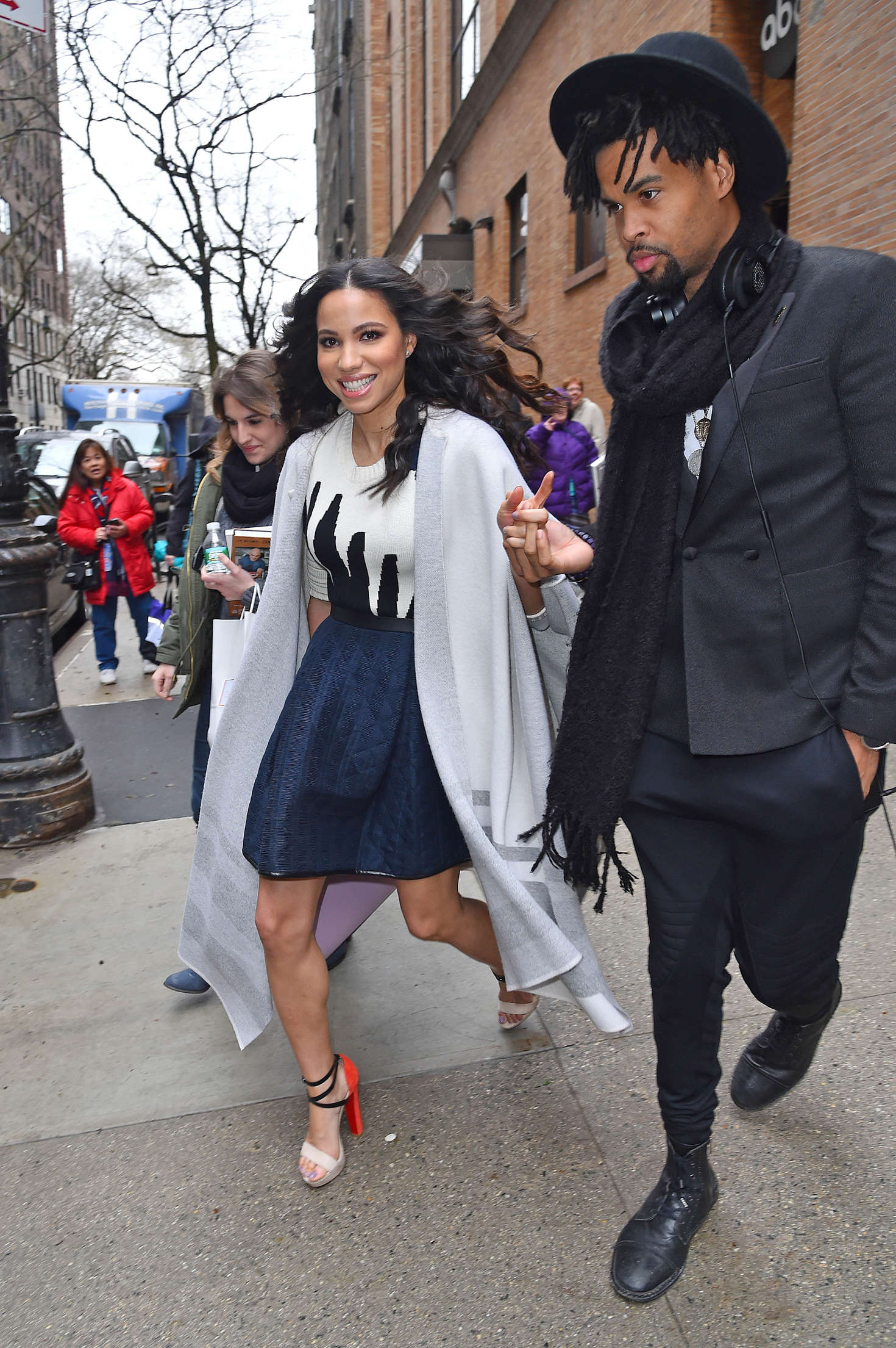 Jurnee Smollett-Bell Leaving The Chew in Manhattan