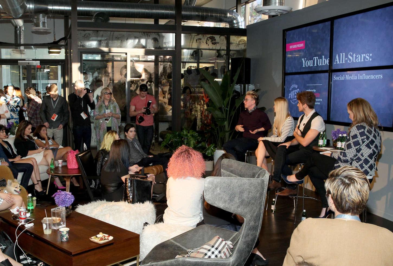 Justine Ezarik Vanity Fair Campaign Hollywood Social Club YouTube All Stars Panel in Los Angeles