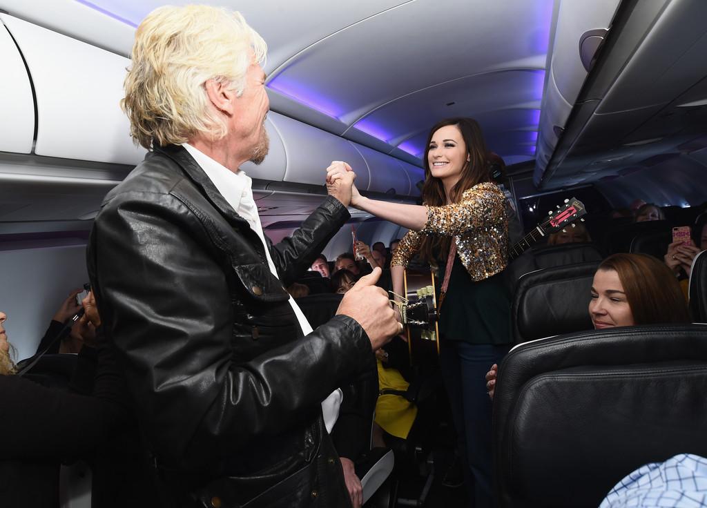 Kacey Musgraves Virgin America Dallas Love Field Launch Celebration in Los Angeles