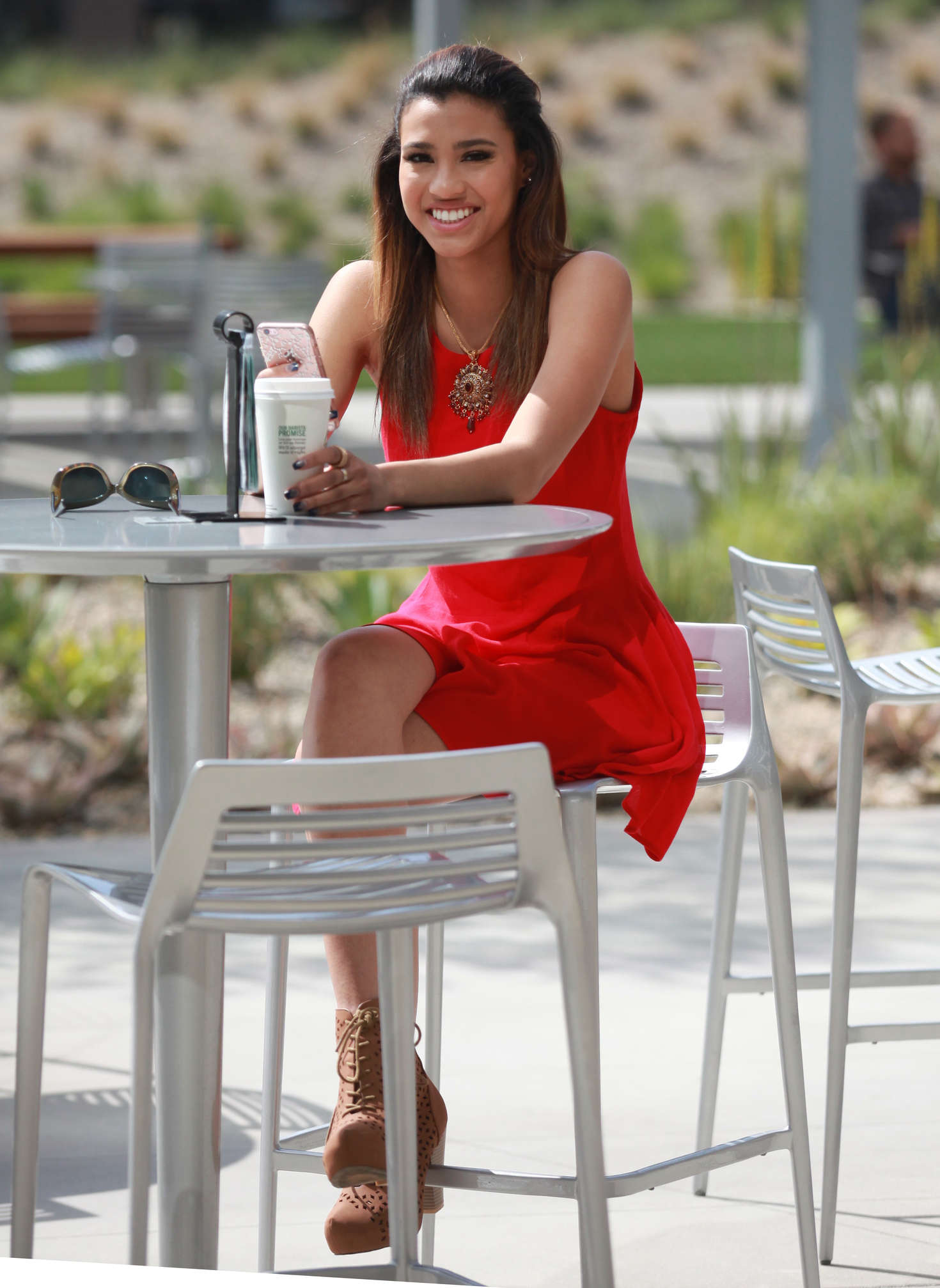 Kara Royster at a coffee in Culver City