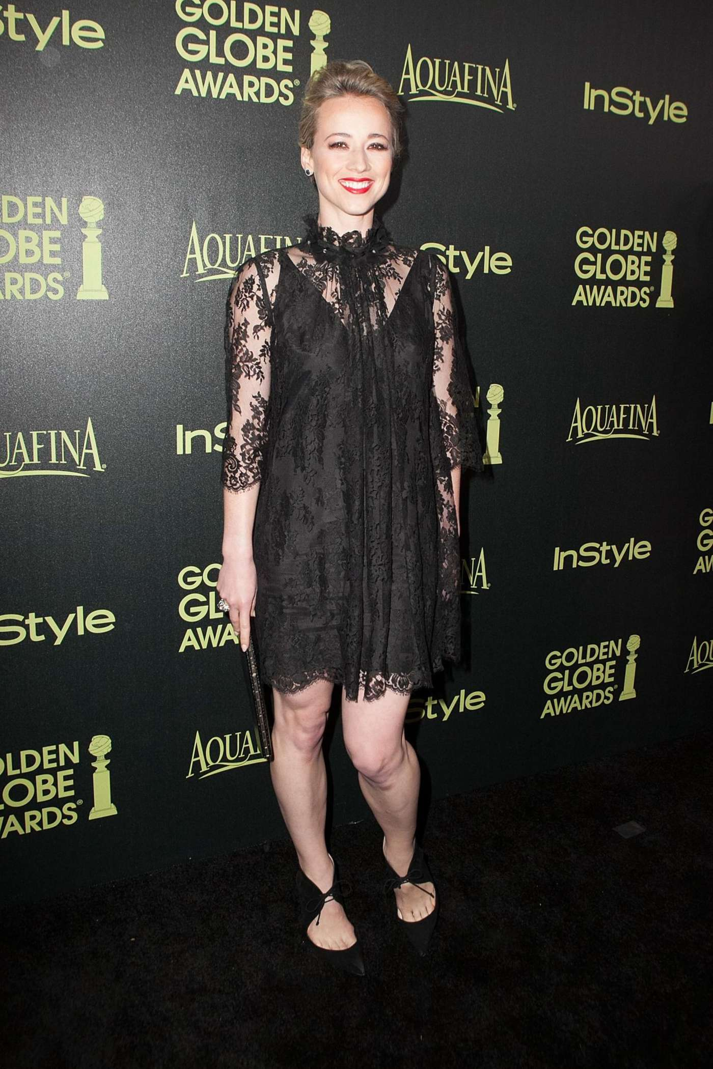 Karine Vanasse HFPA InStyle Celebrate Golden Globe Award Season in West Hollywood