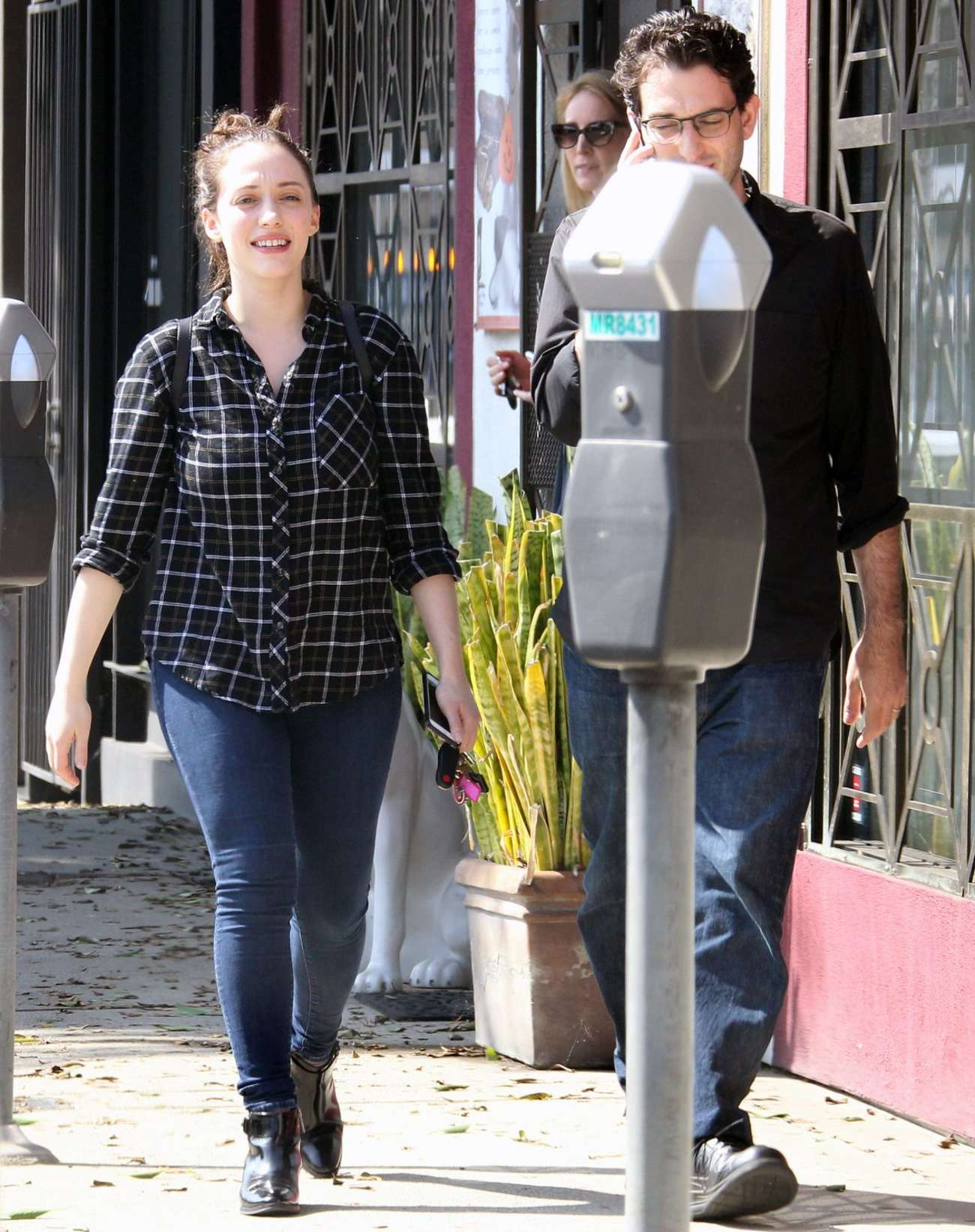 Kat Dennings in Jeans Out in West Hollywood