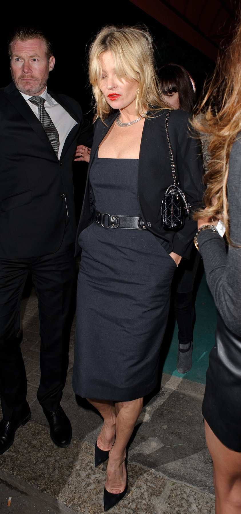 Kate Moss Arriving at a Rita Ora Private Gig in Mayfair