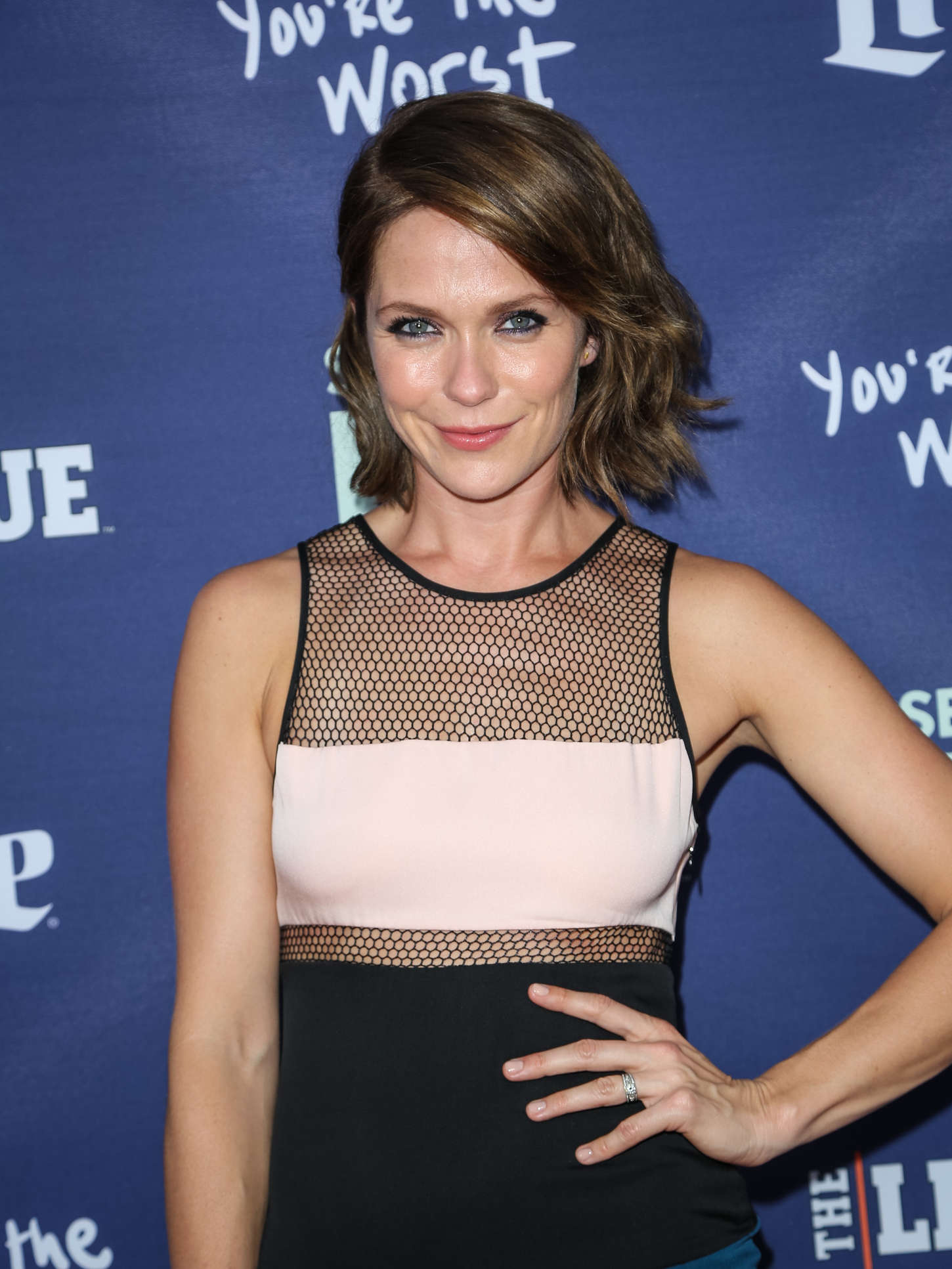 Katie Aselton The League and Youre The Worst Premiere in Los Angeles