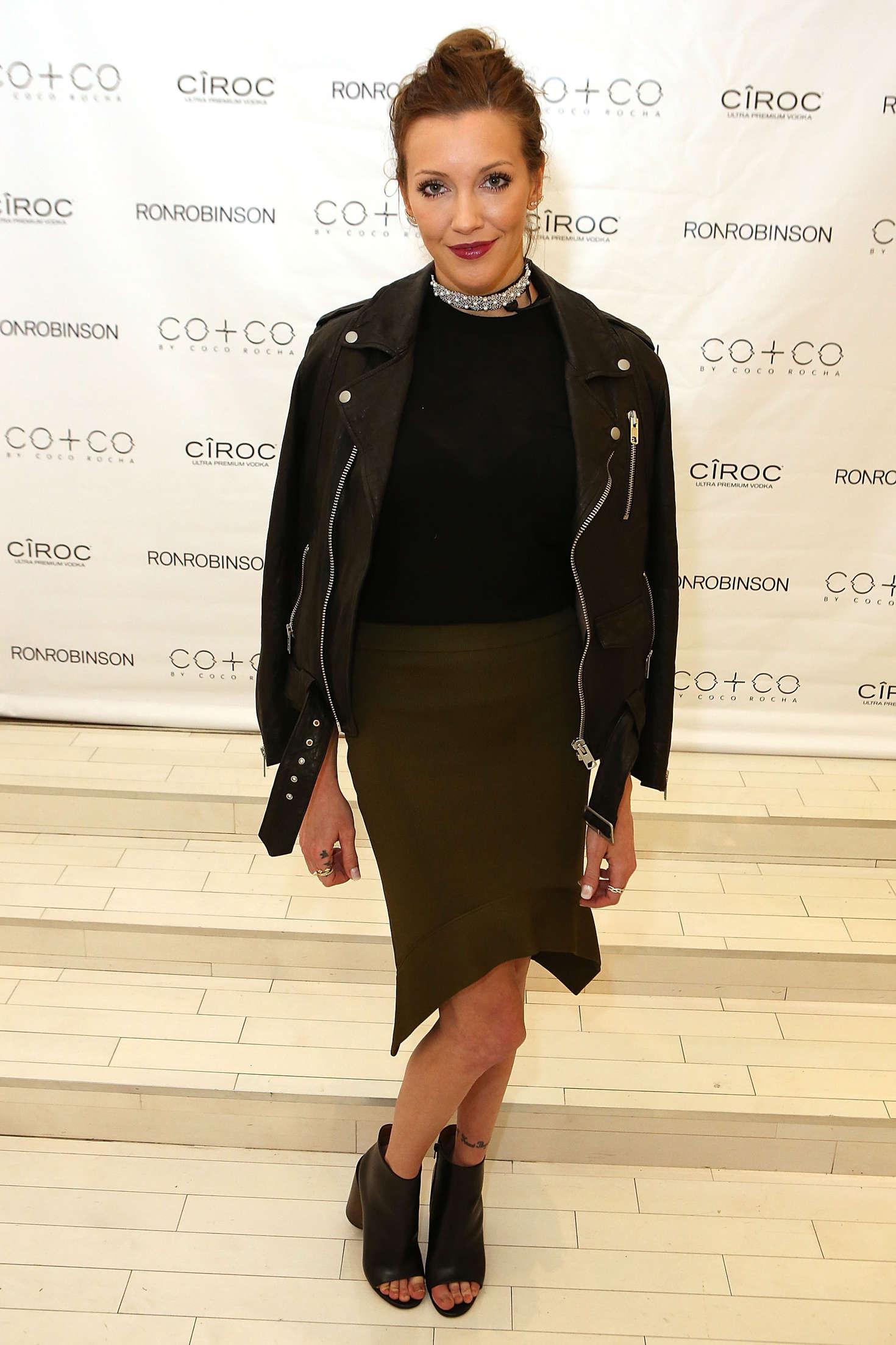 Katie Cassidy RonRobinson x COCO By Coco Rocha Launch Party in Santa Monica