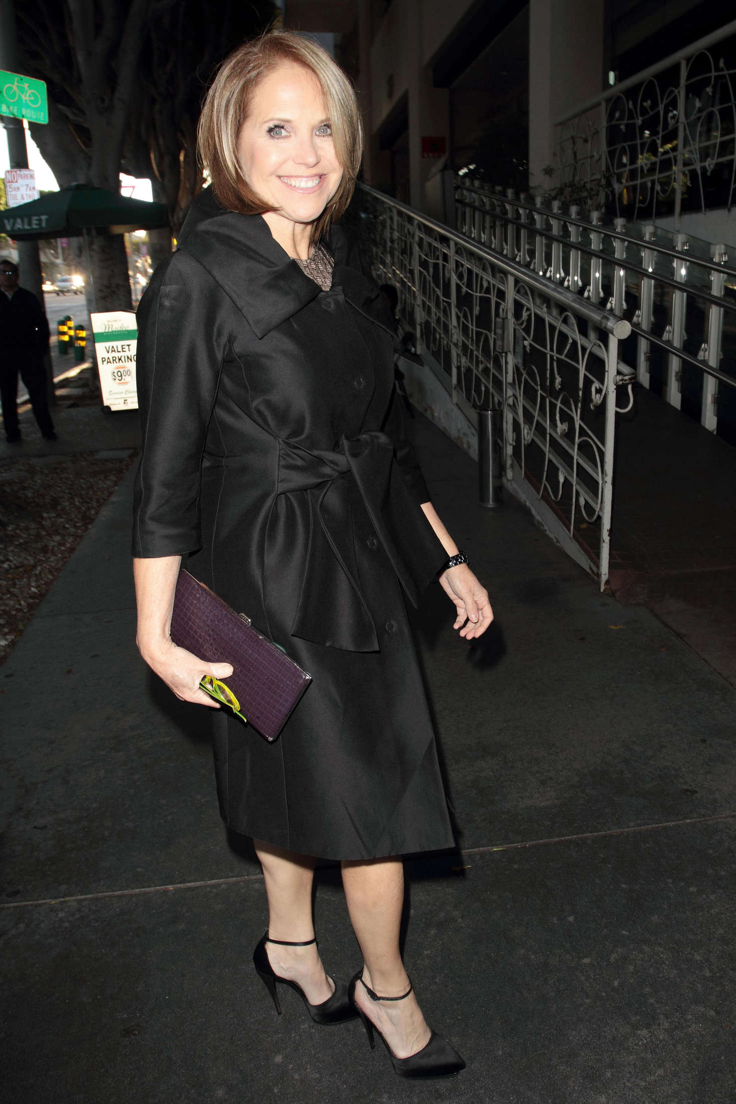 Katie Couric at Madeo Restaurant in Hollywood