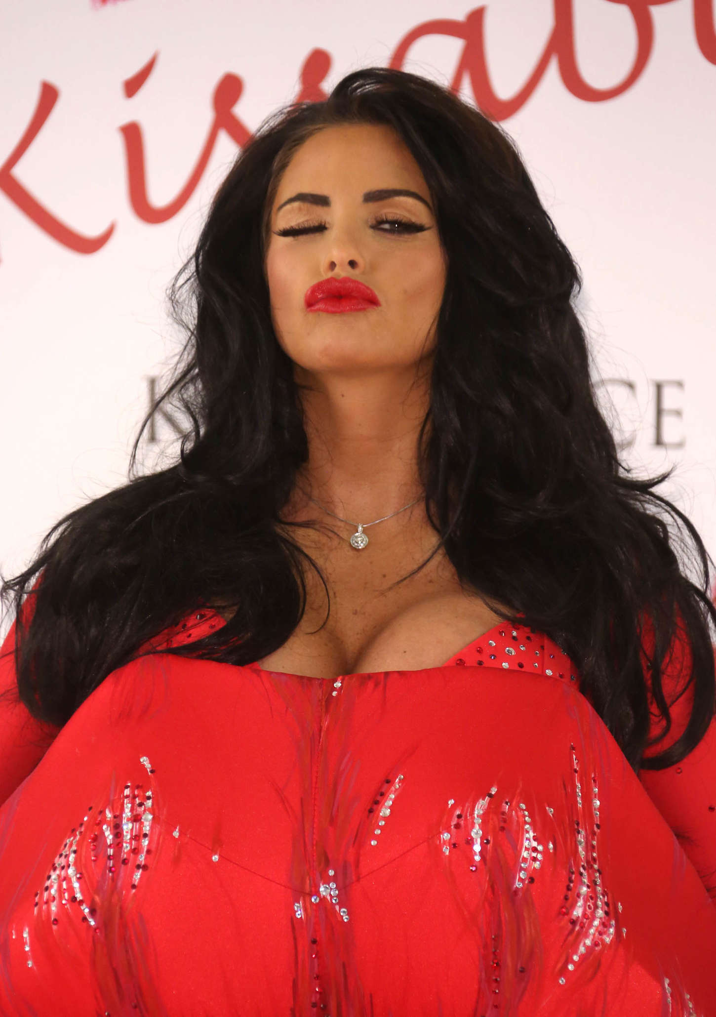 Katie Price launching her new fragrance Kissable