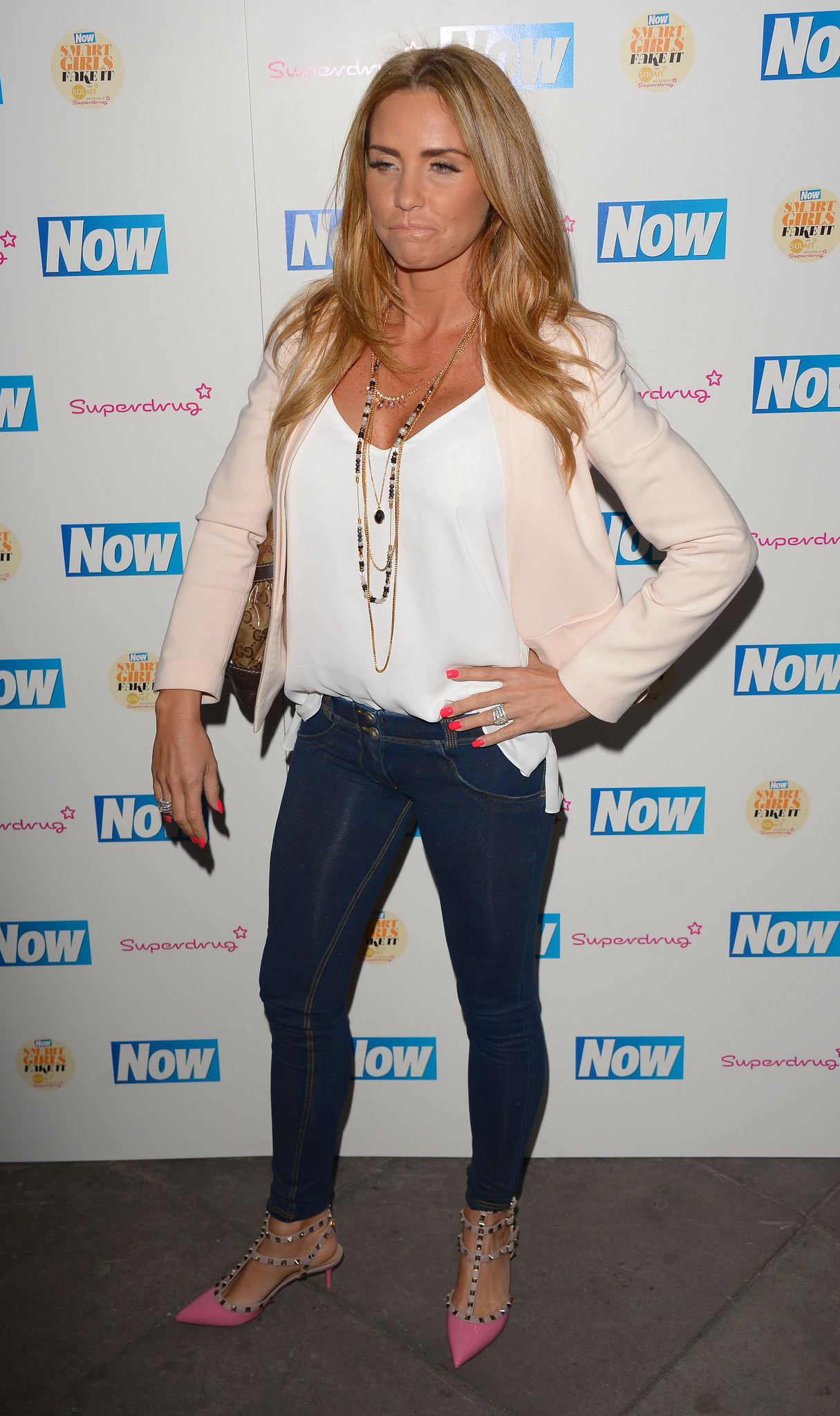 Katie Price Now Smart Girls Fake It Campaign Launch in London