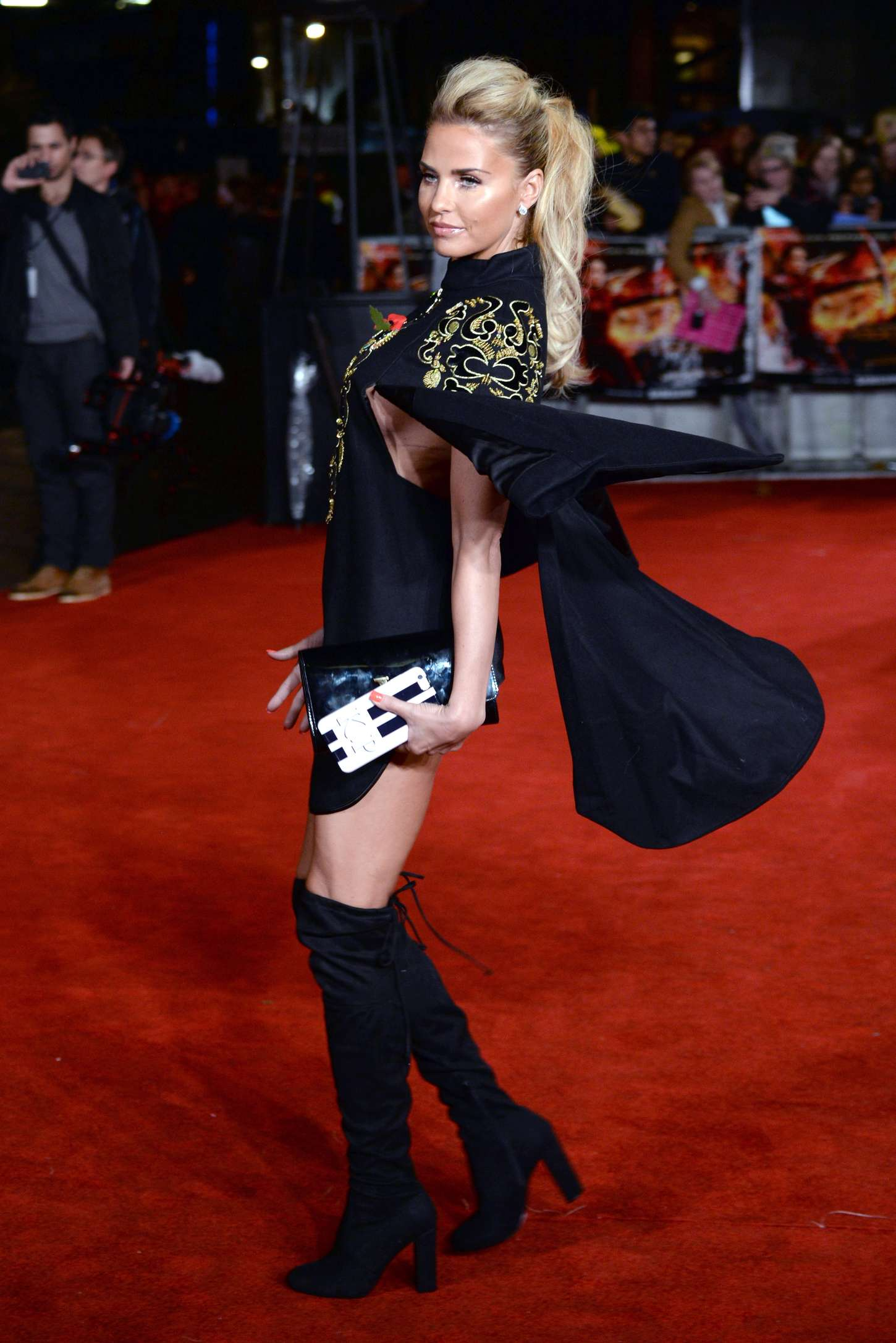 Katie Price The Hunger Games Mockingjay Part Premiere in London