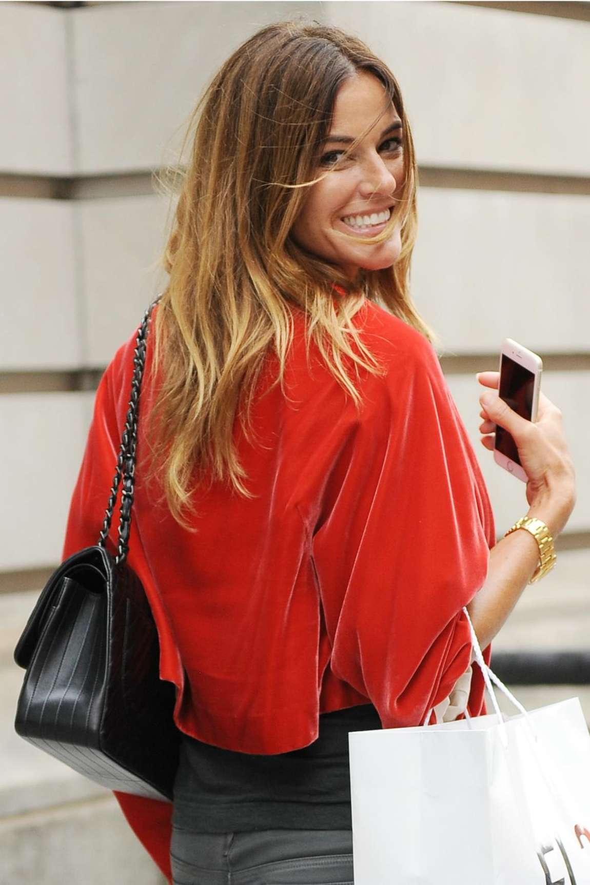 Kelly Bensimon in Leather Out in SoHo