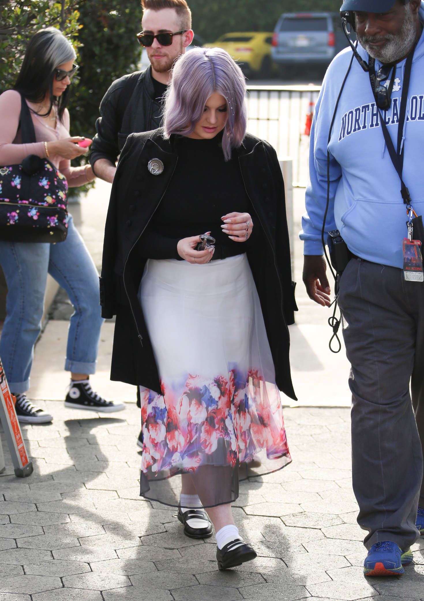 Kelly Osbourne on the set of Extra in Los Angeles