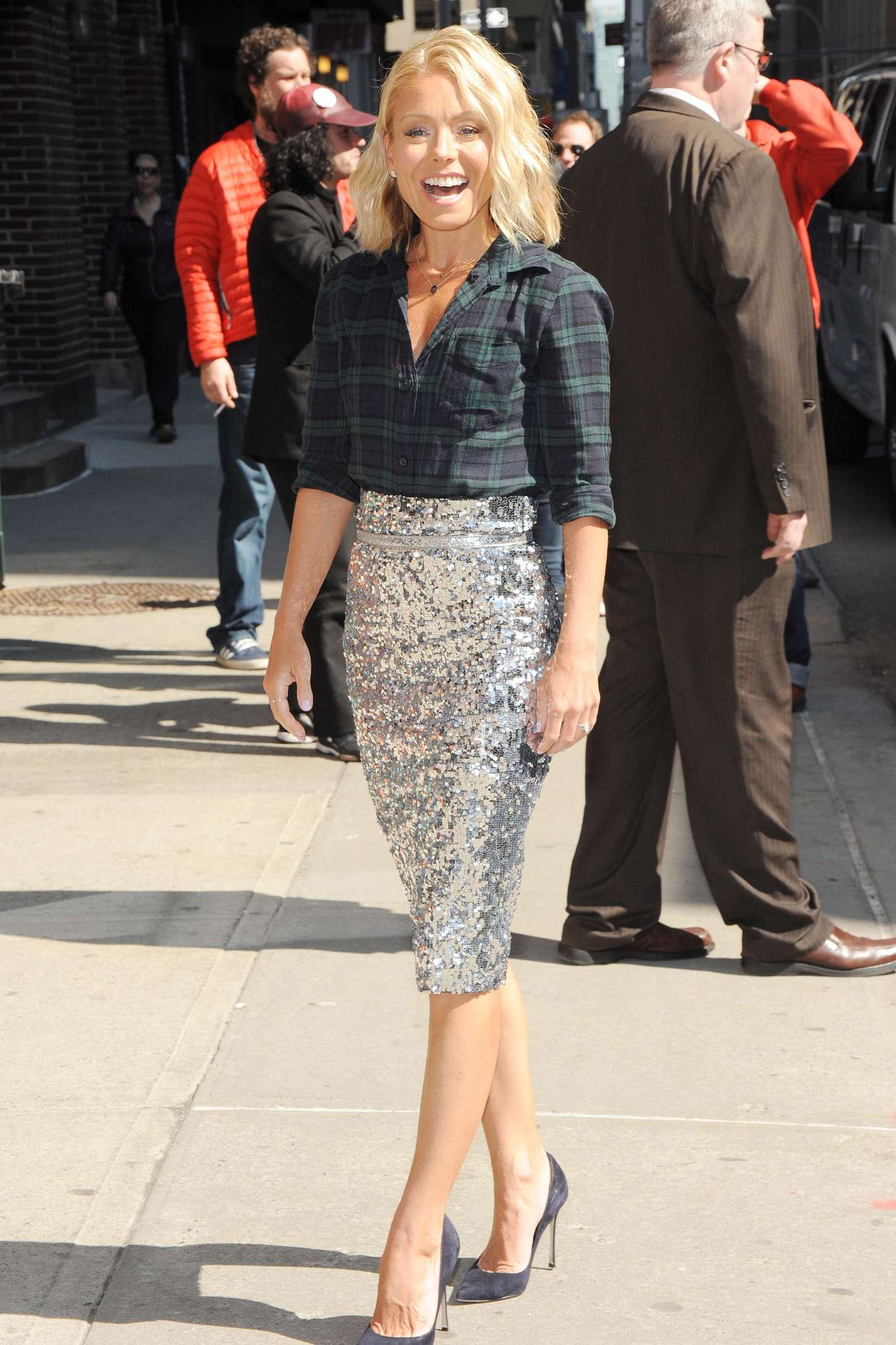 Kelly Ripa Arriving at The Late Show with David Letterman in New York