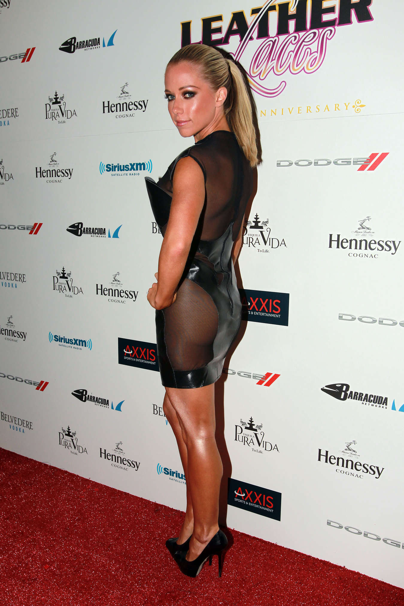 Kendra Wilkinson at Leather Laces Super Bowl Party