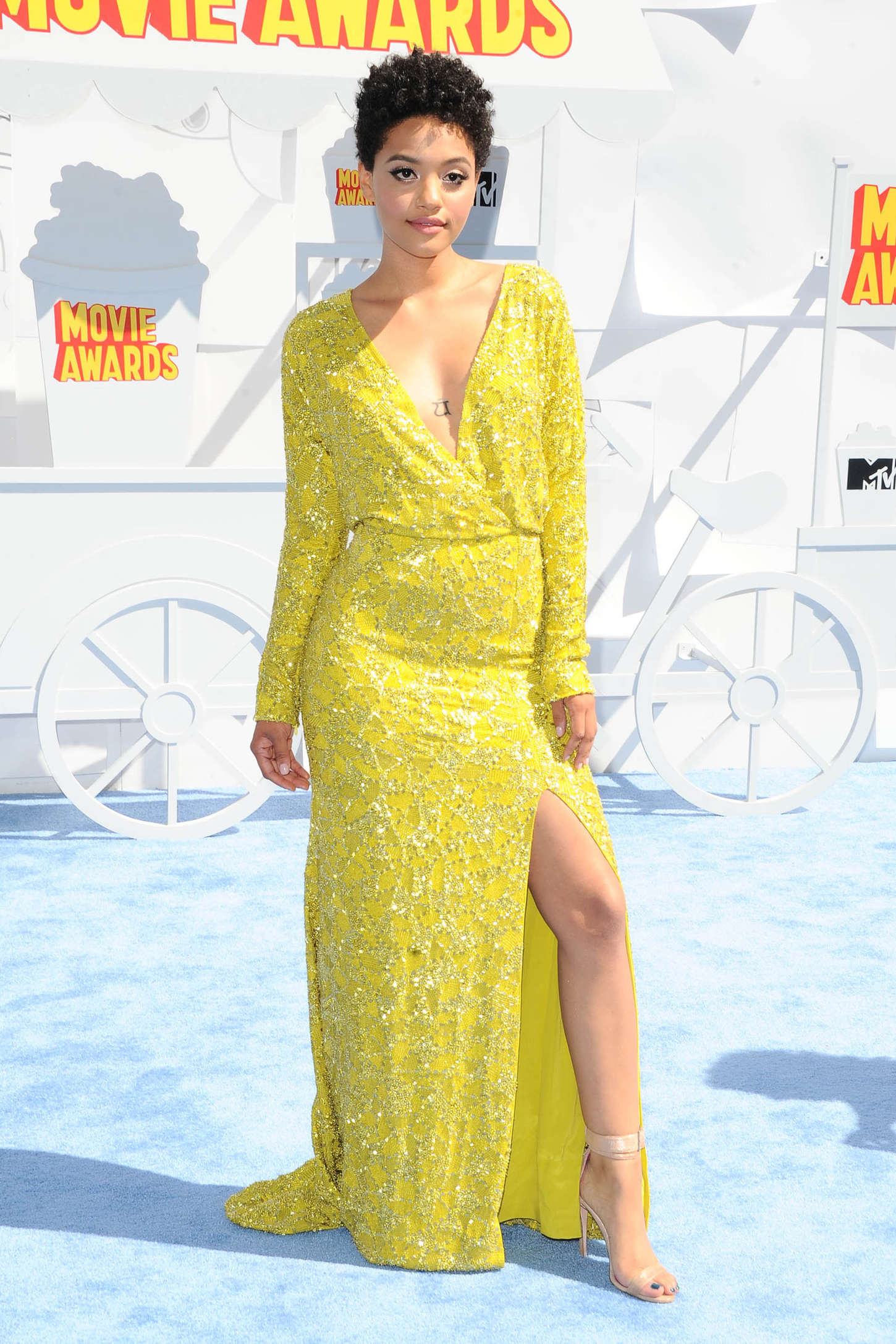 Kiersey Clemons MTV Movie Awards in Los Angeles