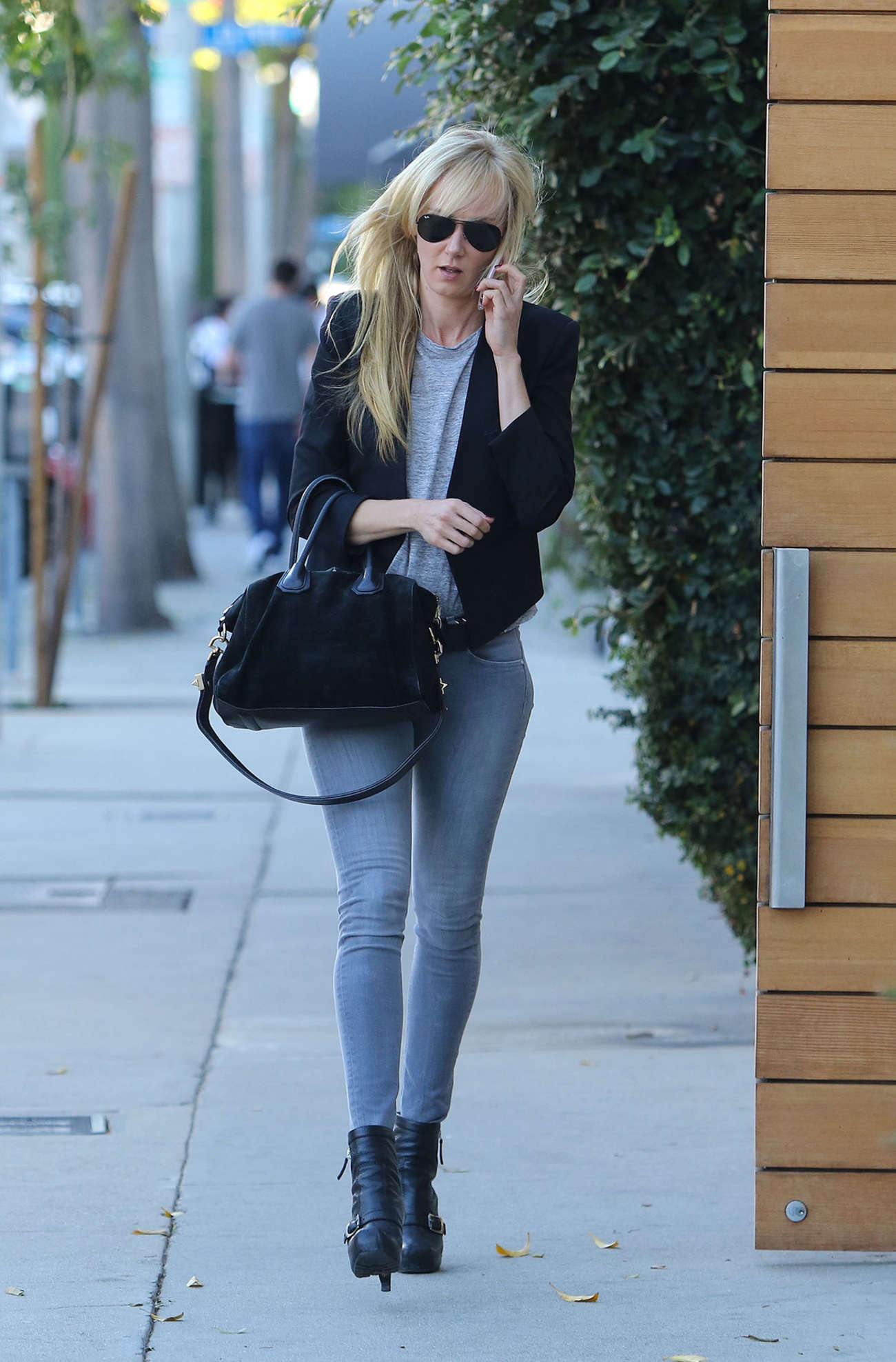 Kimberly Stewart in Jeans Out in Los Angeles
