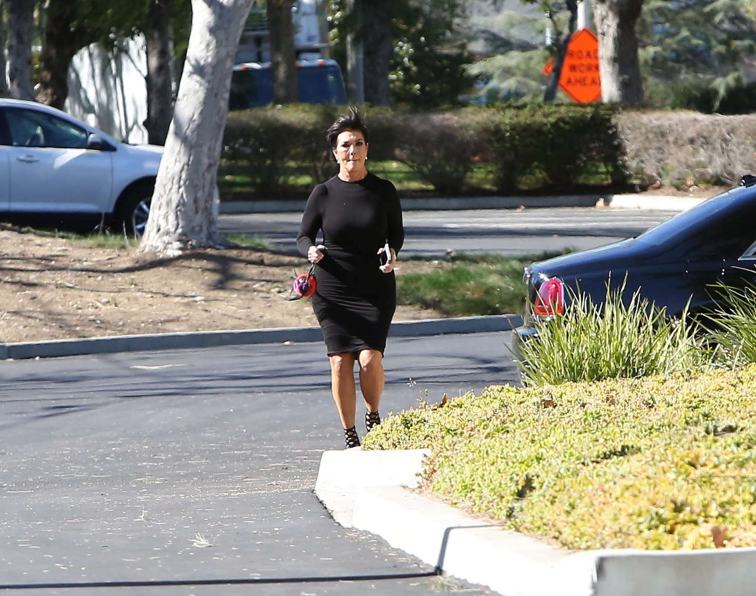 Kris Jenner in Tight Dress out in Hollywood-1