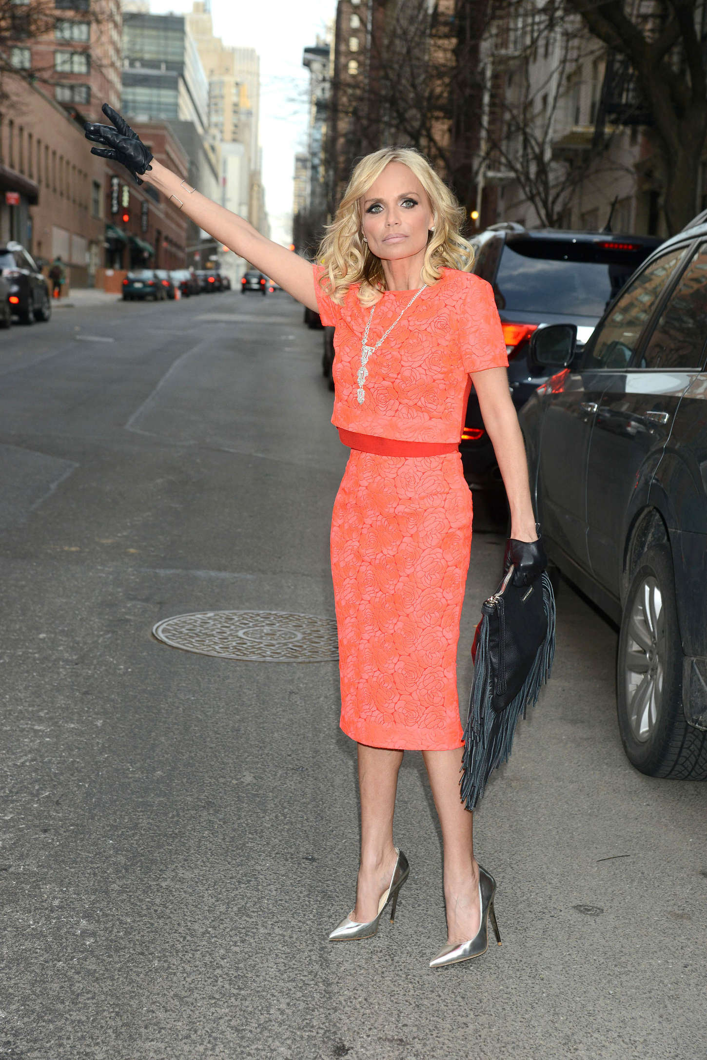 Kristin Chenoweth On Her Way To The Street in New York City