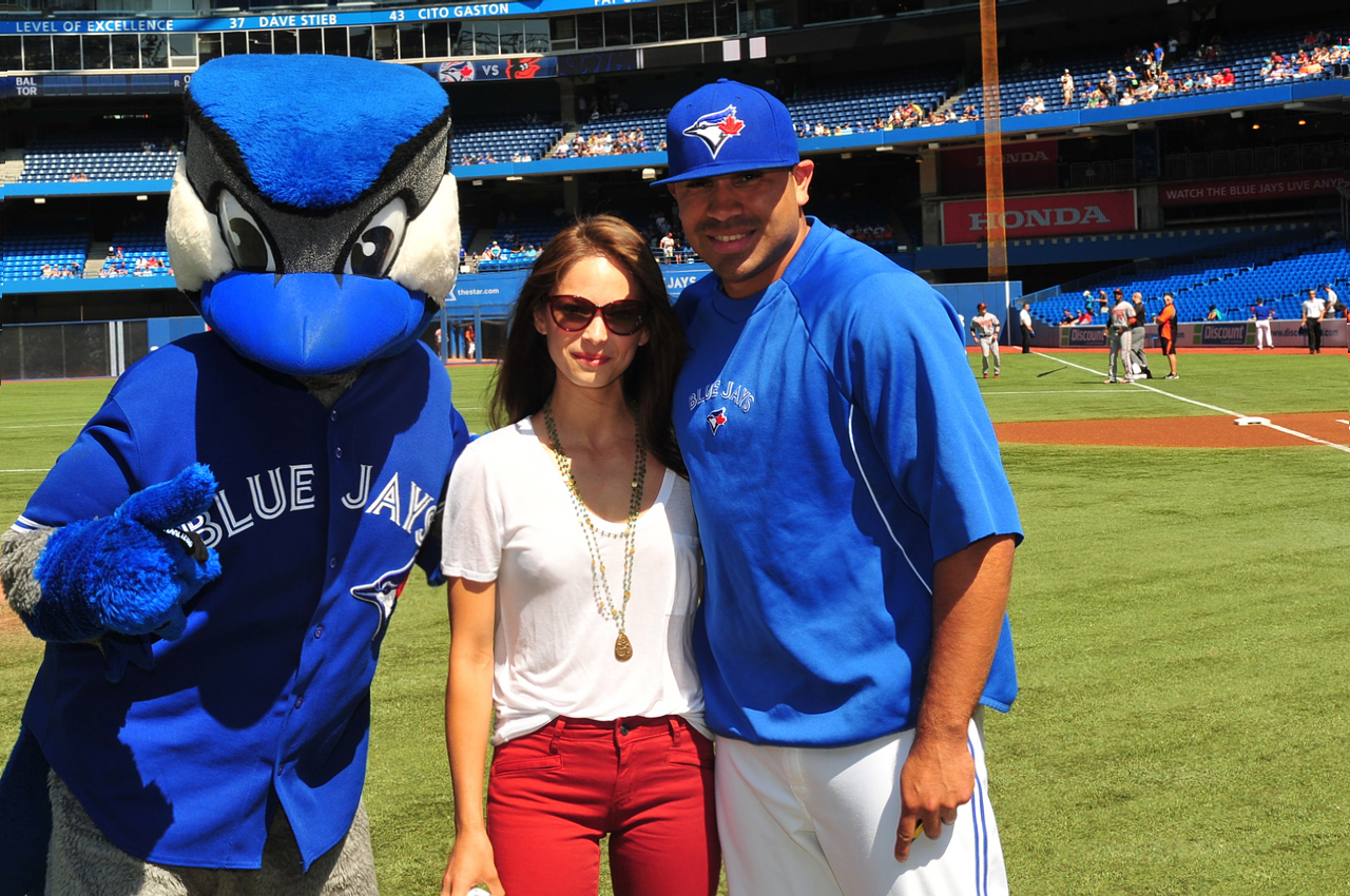 Kristin Kreuk at the Toronto Blue Jays game