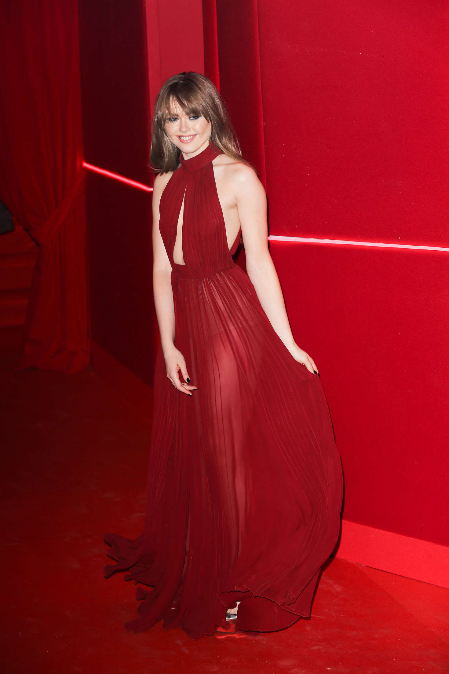 Kristina Bazan Attends at LOreal Red Obsession Party in Paris