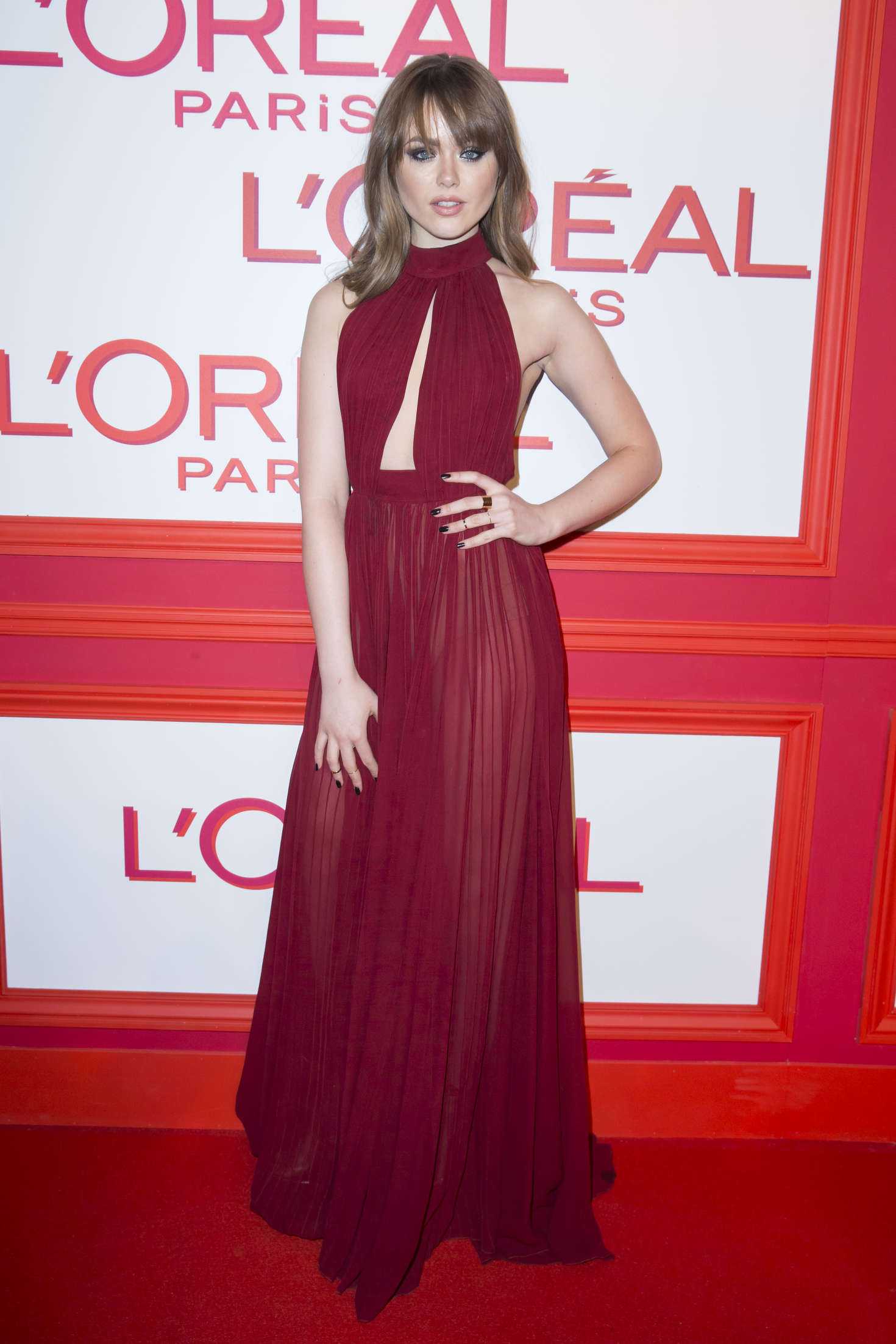 Kristina Bazan LOreal Red Obsession Party in Paris