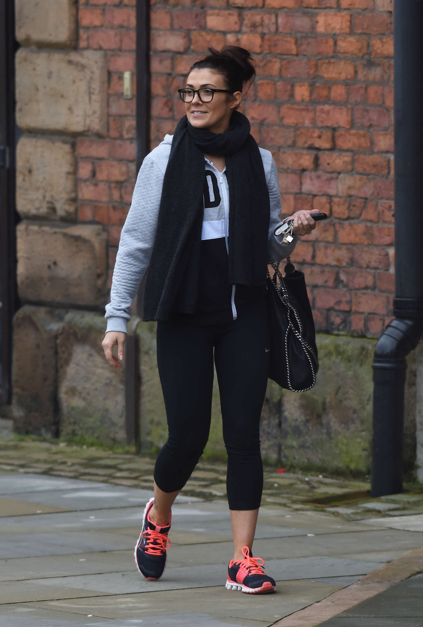 Kym Marsh in Leggings out in Manchester