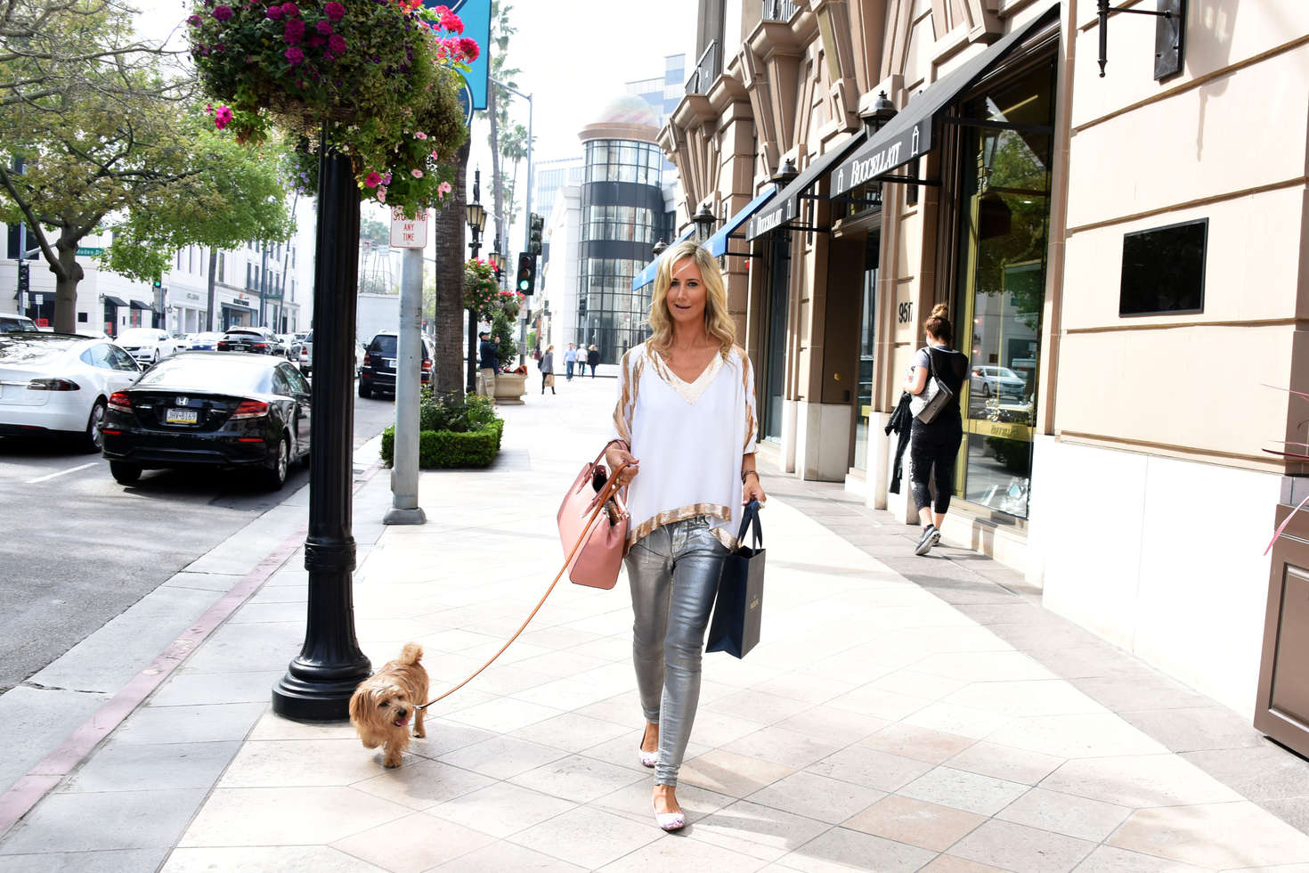 Lady Victoria Hervey Shopping on Rodeo Drive in Los Angeles