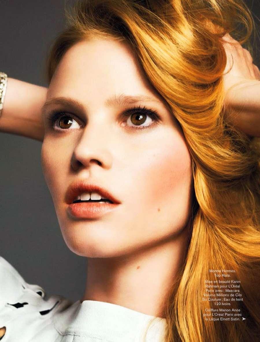 Lara Stone Glamour France Magazine