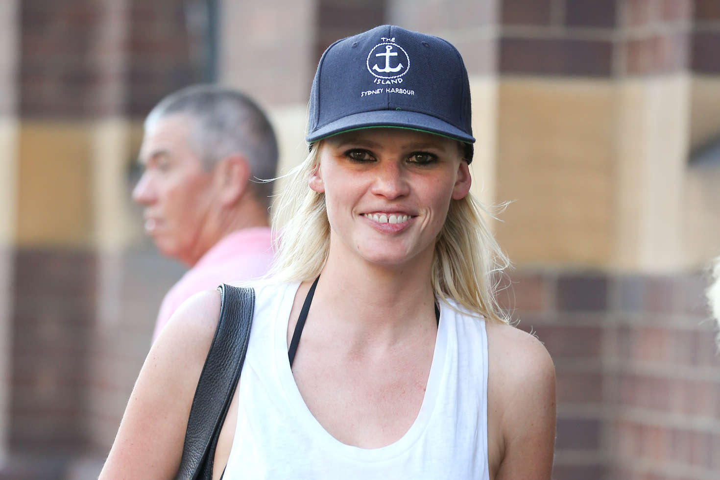 Lara Stone in Shorts out in Sydney Harbour