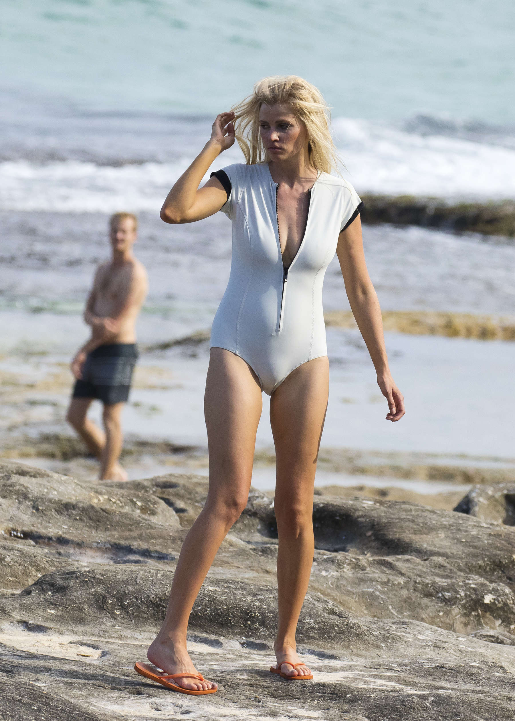Lara Stone Vogue Photoshoot at Bondi Beach in Sydney