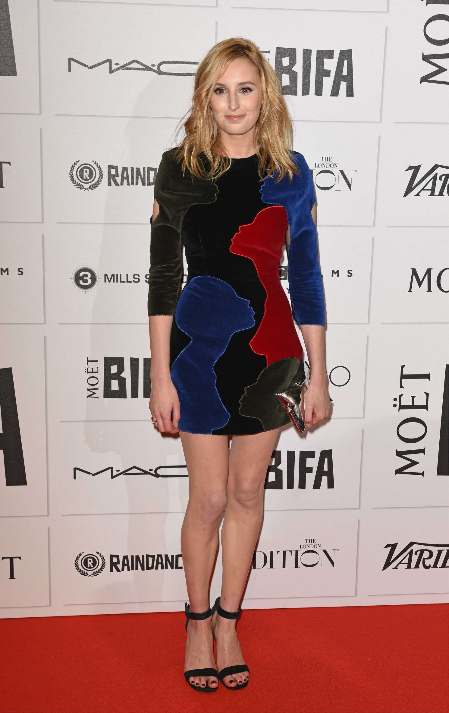 Laura Carmichael Moet British Independent Film Awards in London