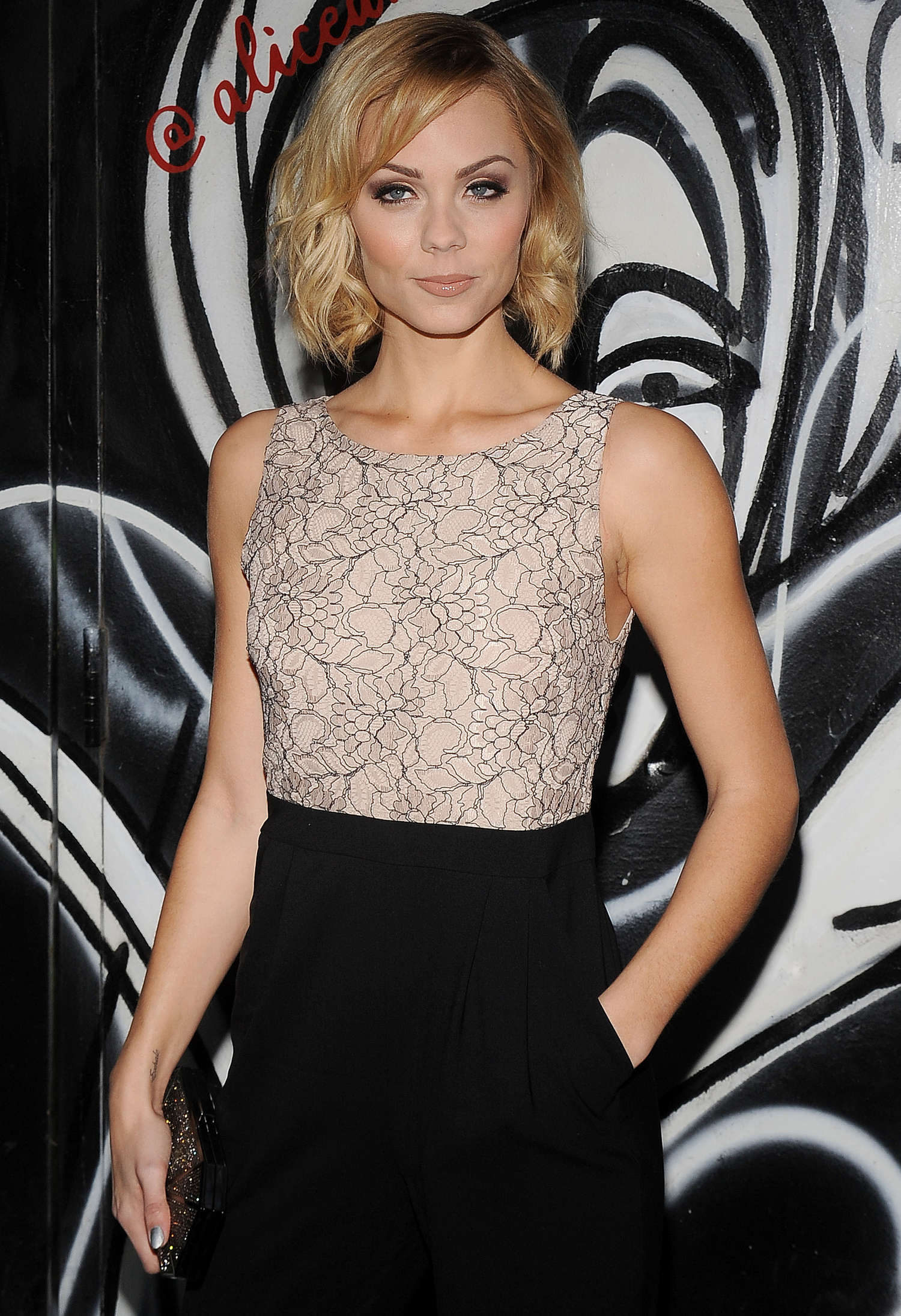 Laura Vandervoort Fashion Show in New York Alice Olivia