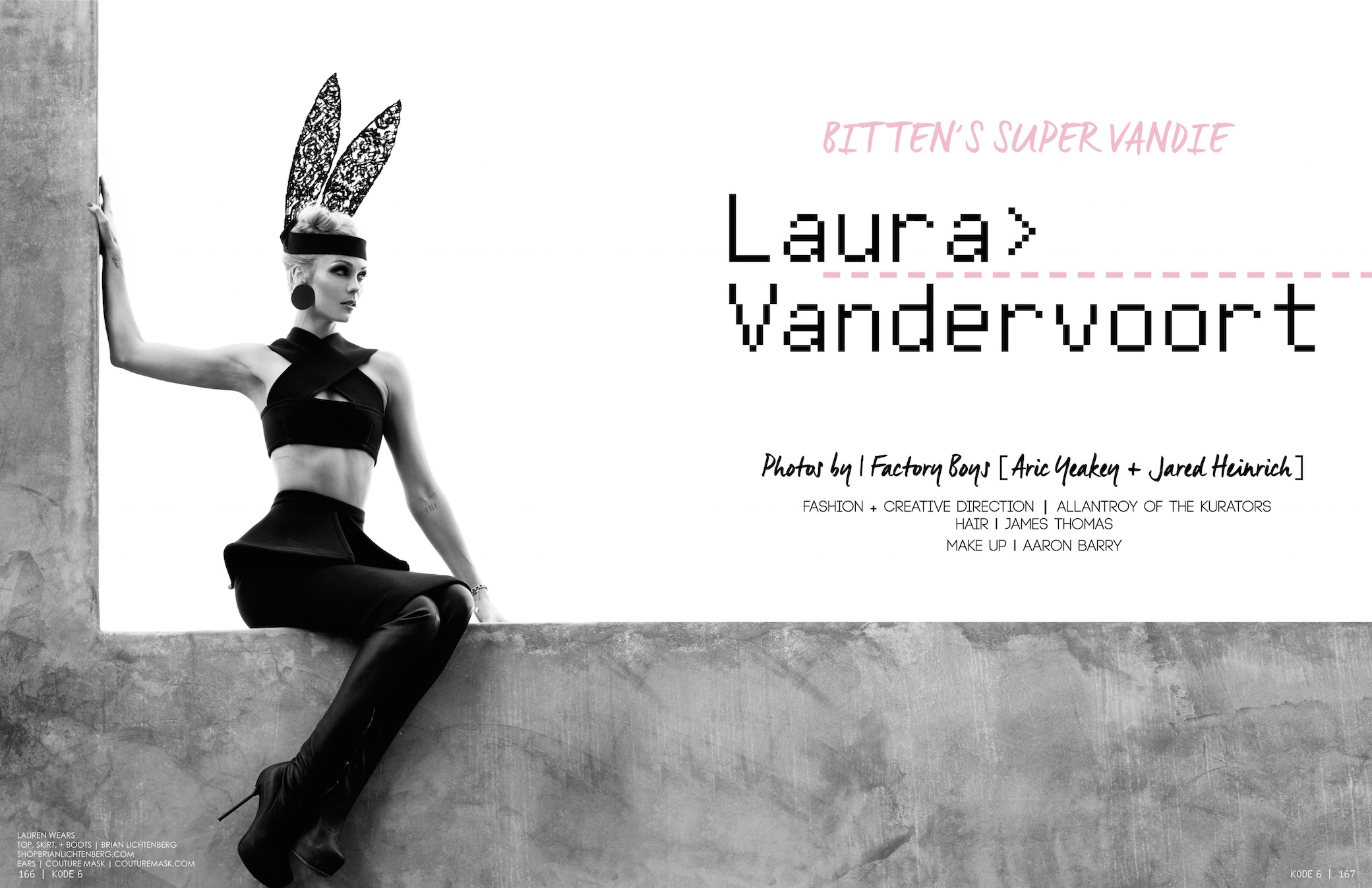 Laura Vandervoort Kode Magazine Issue