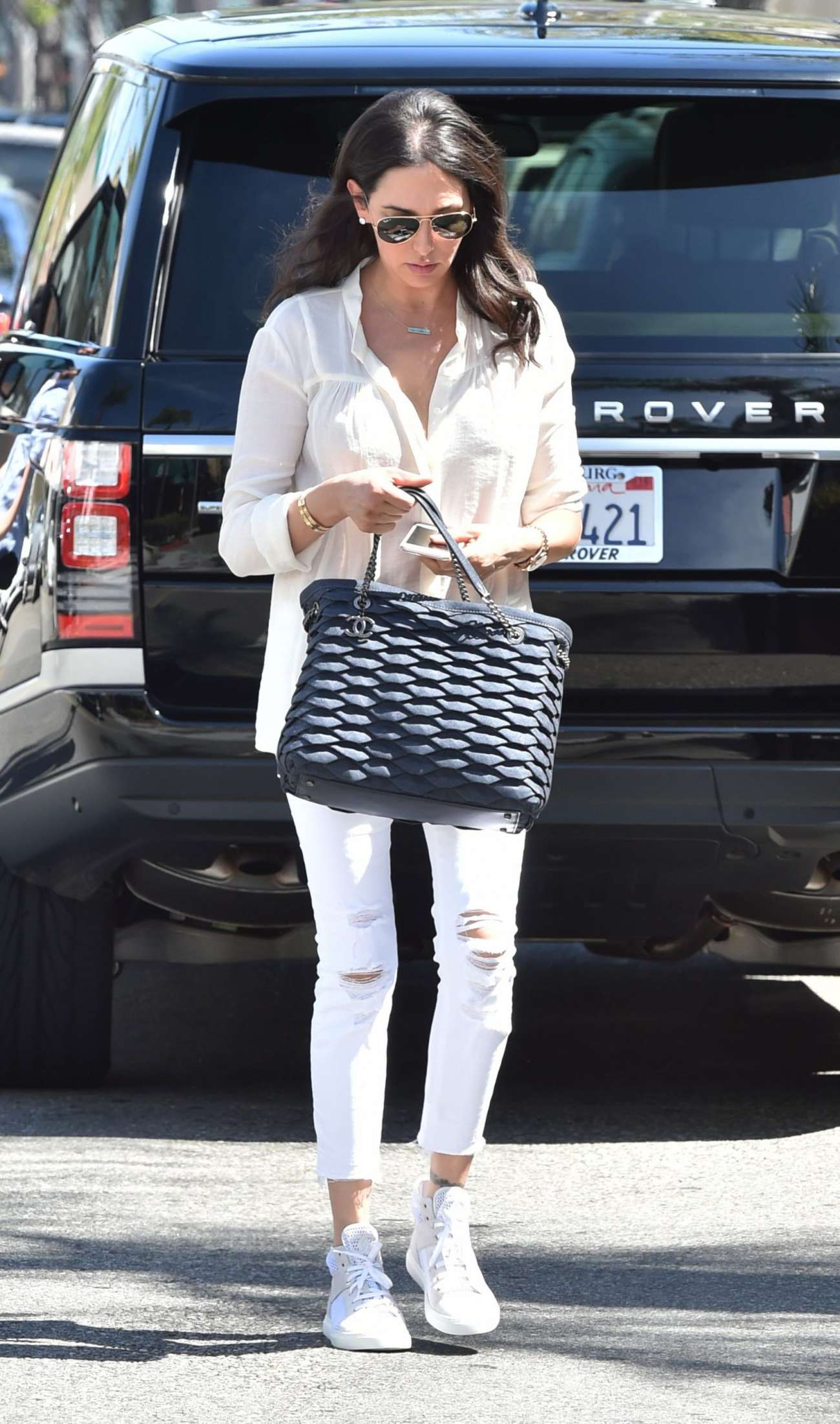 Lauren Silverman go out in Beverly Hills