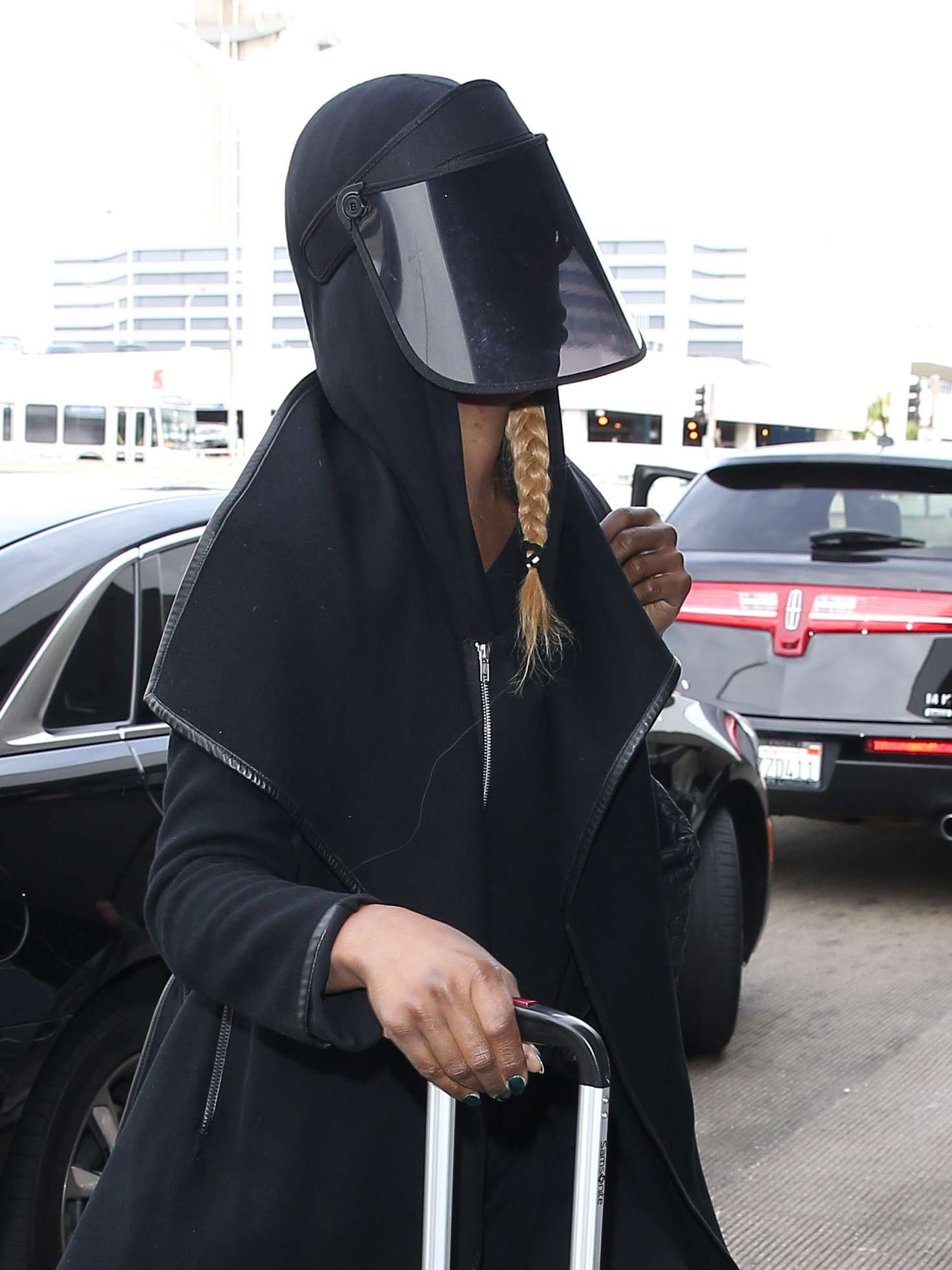 Laverne Cox Arriving at LAX Airport in Los Angeles