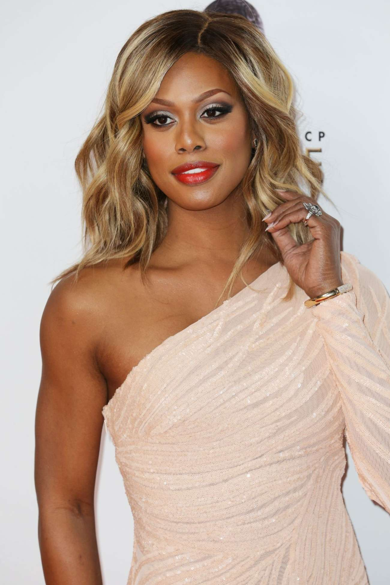 Laverne Cox NAACP Image Awards in Pasadena
