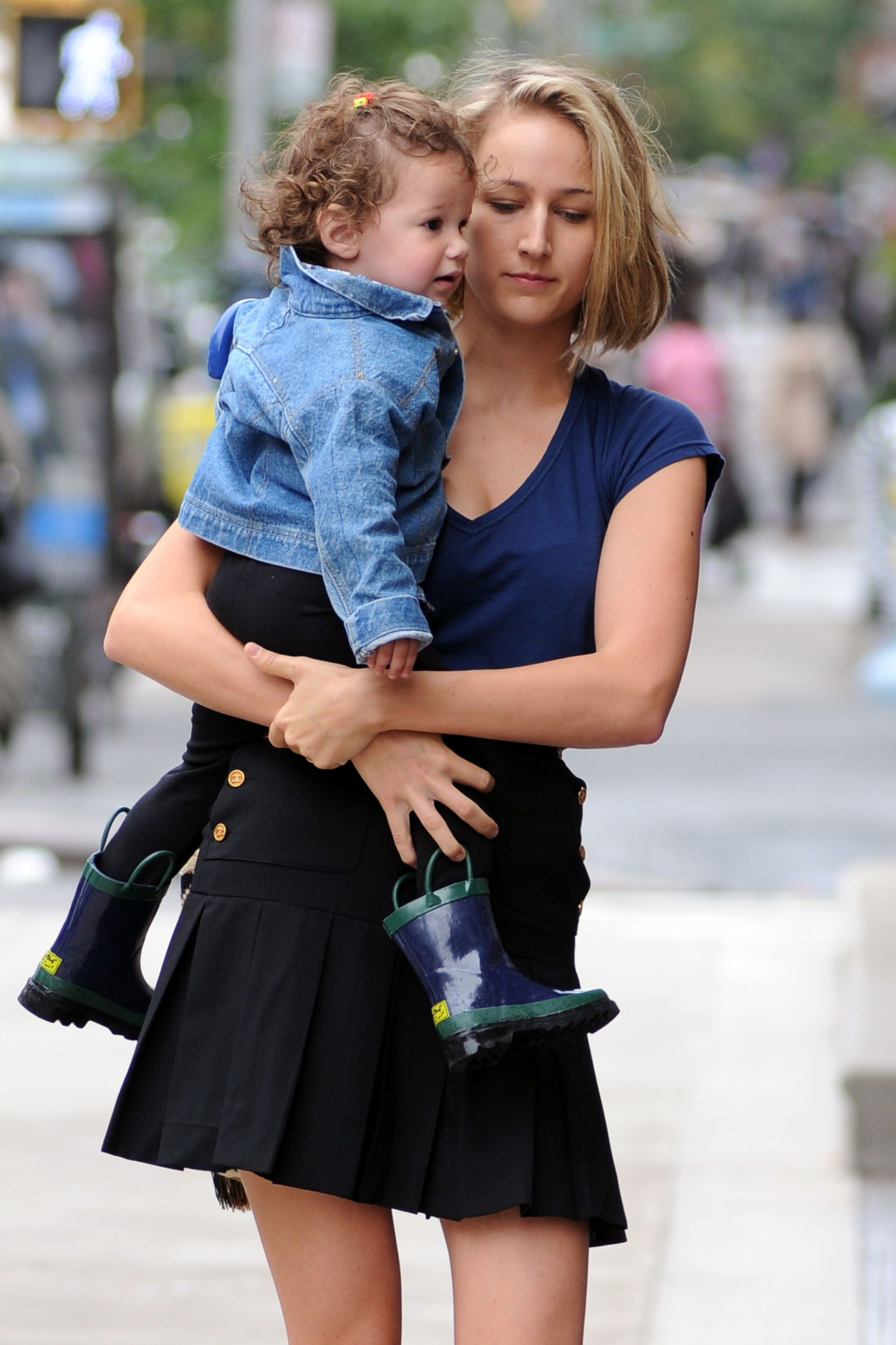 Leelee Sobieski Black Skirt Candids in New York