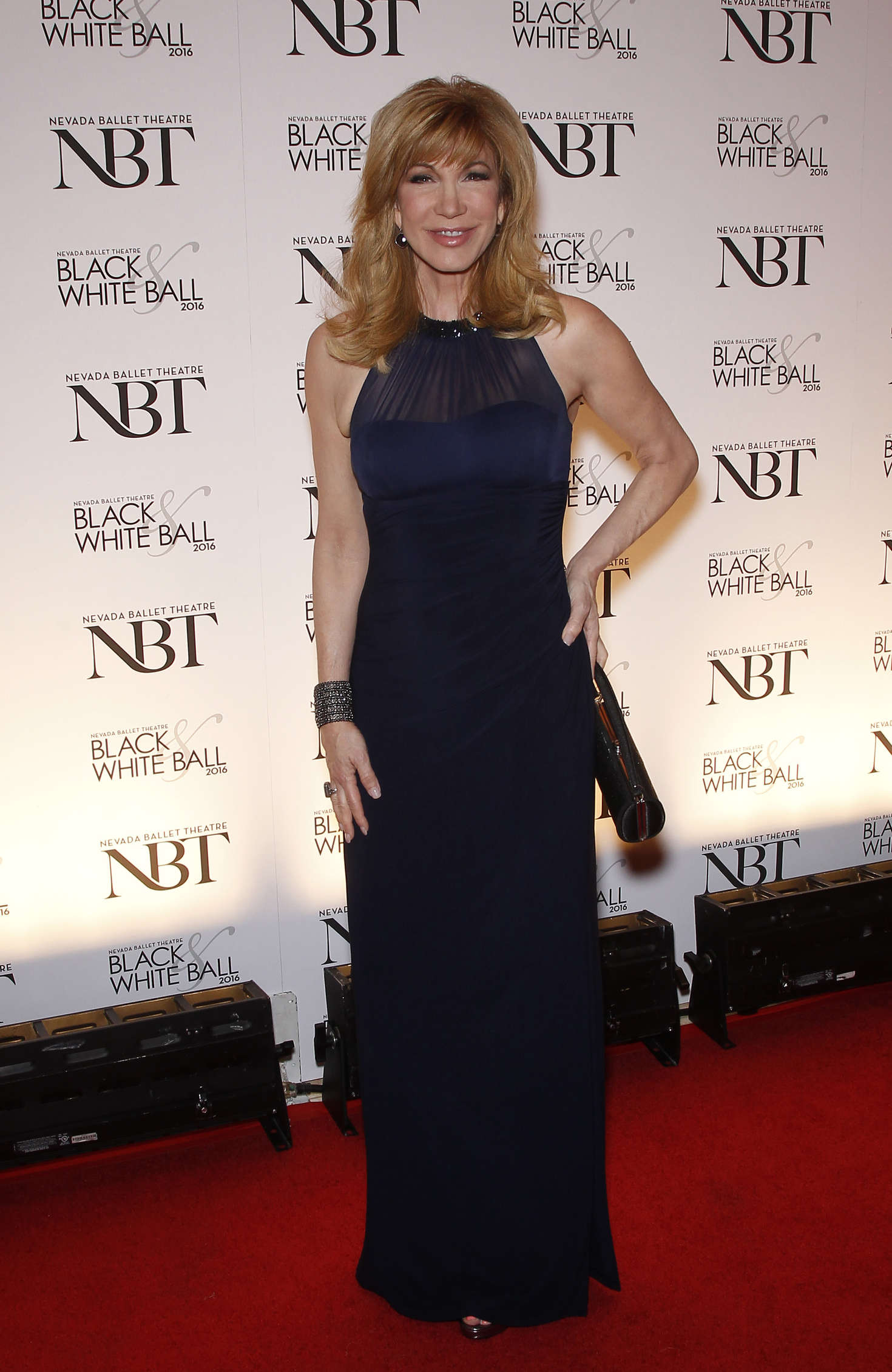 Leeza Gibbons Olivia Newton-John is honored as the NBT Woman of the Year in Las Vegas
