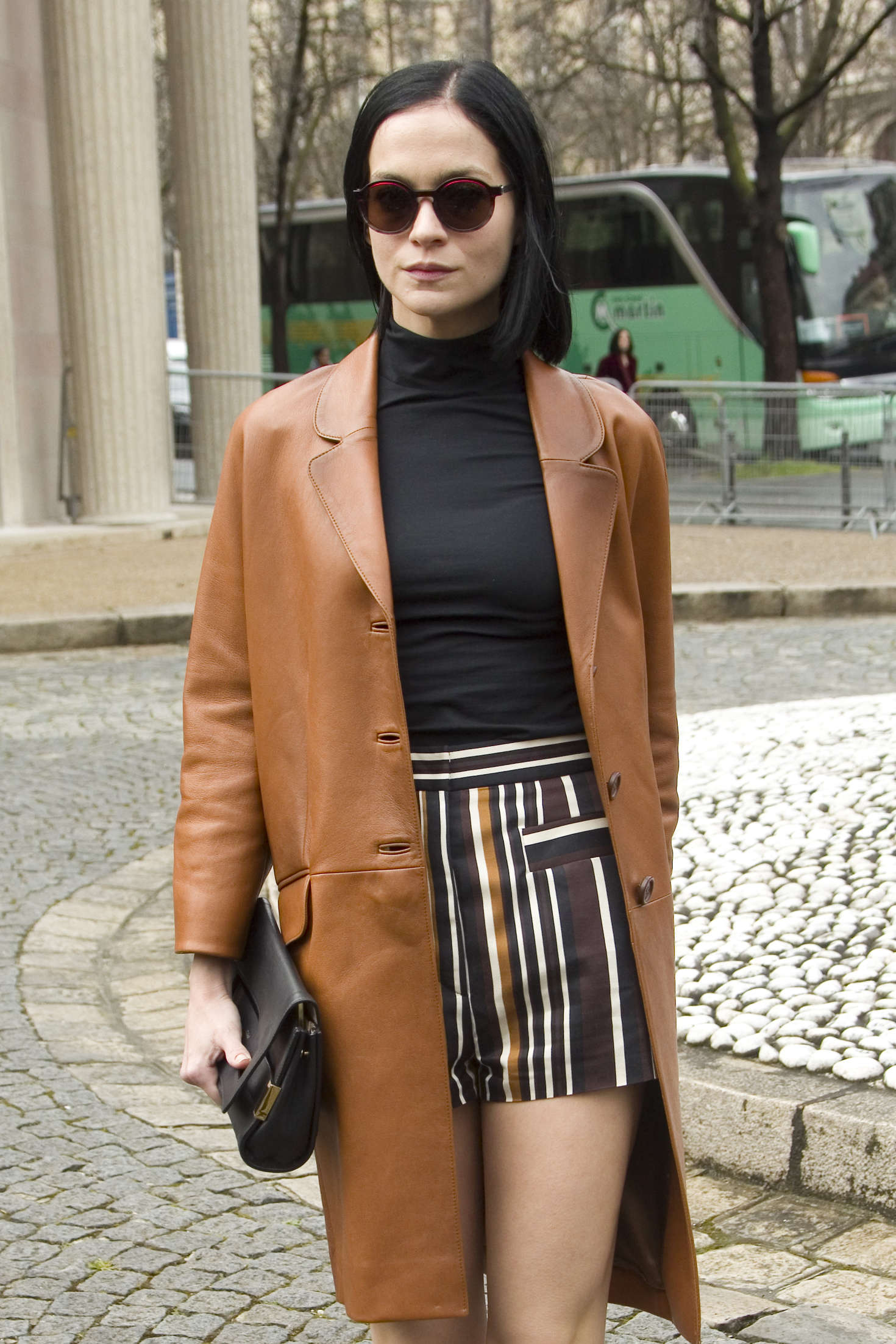 Leigh Lezark Arrives at Miu Miu Fashion Show in Paris