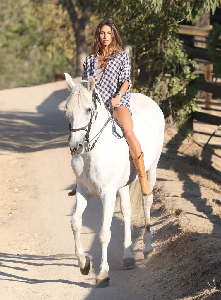Leilani Dowding riding a horse in Santa Barbara