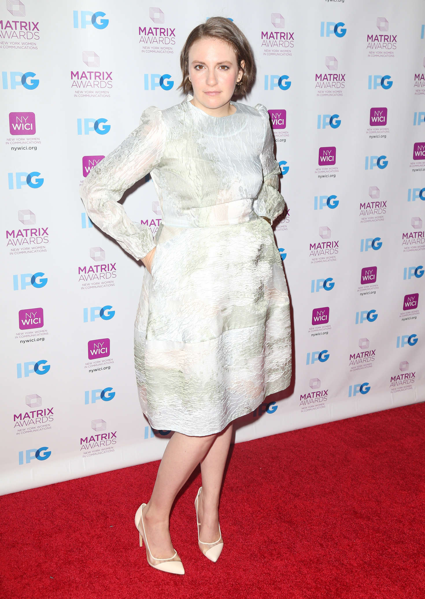 Lena Dunham Matrix Awards in New York