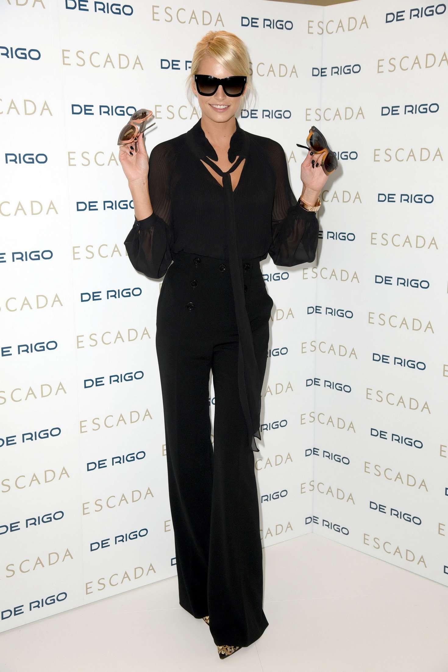 Lena Gercke Posing for Sunglasses from Escada in Munich