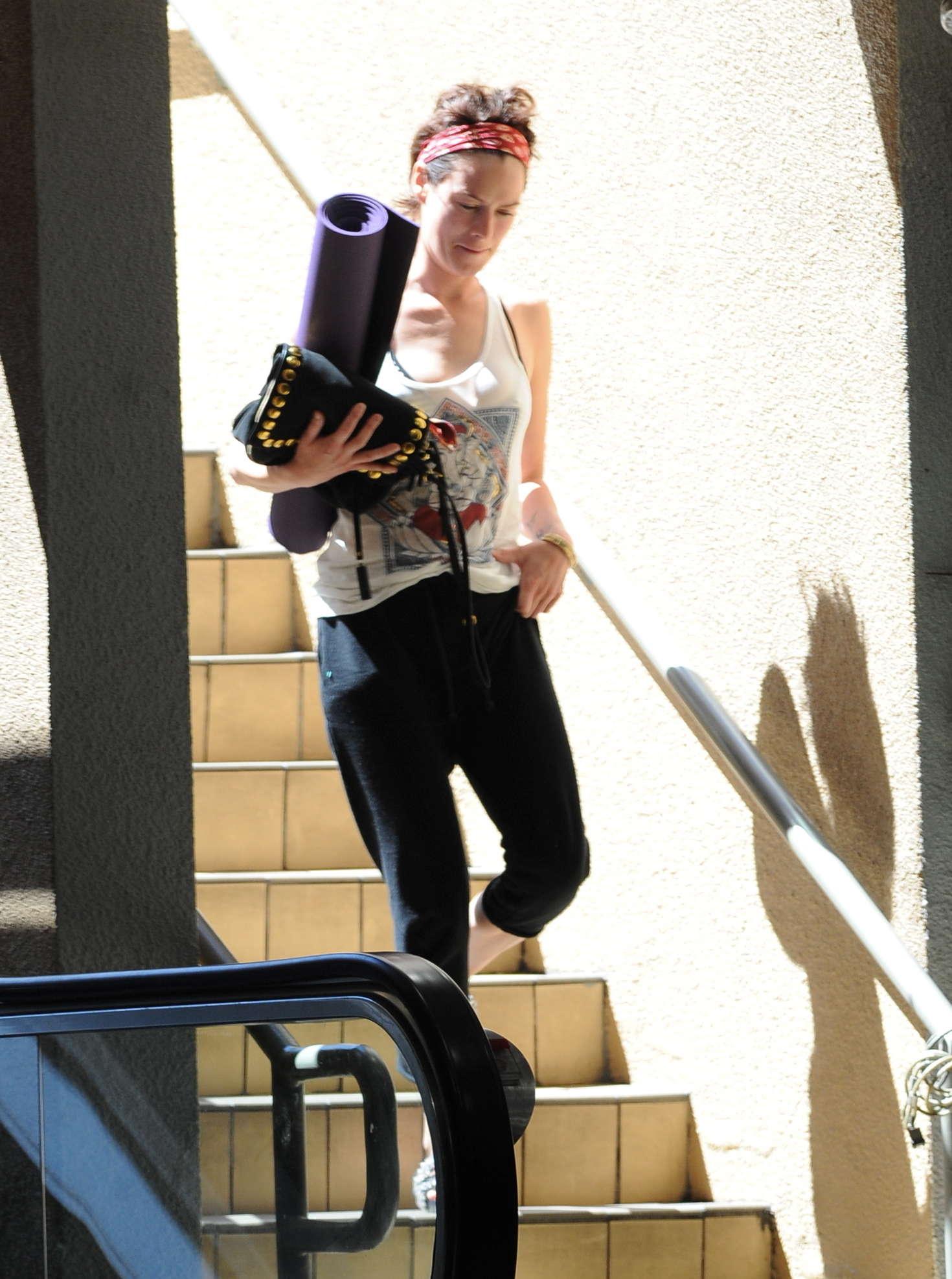 Lena Headey Leaving Yoga in Studio City