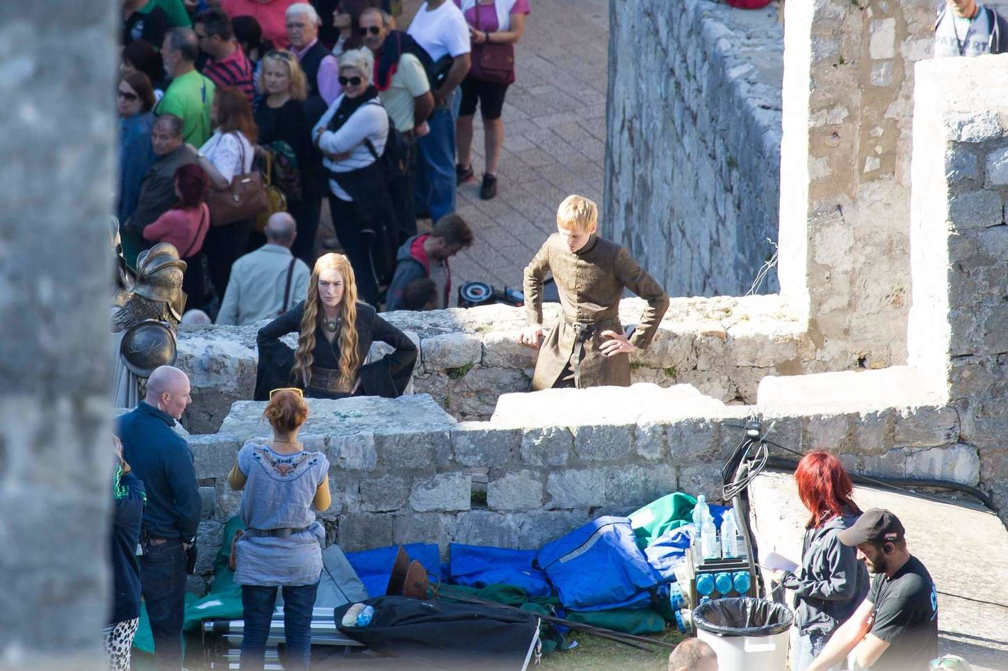 Lena Headey on the set of Game of Thrones in Dubrovnik