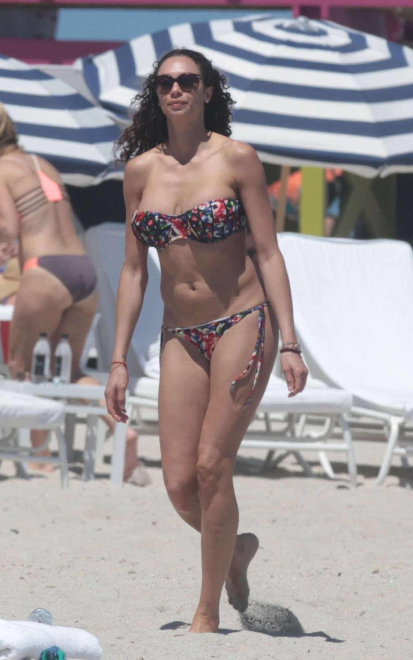 Lilly Becker Wearing Bikini on the Beach in Miami