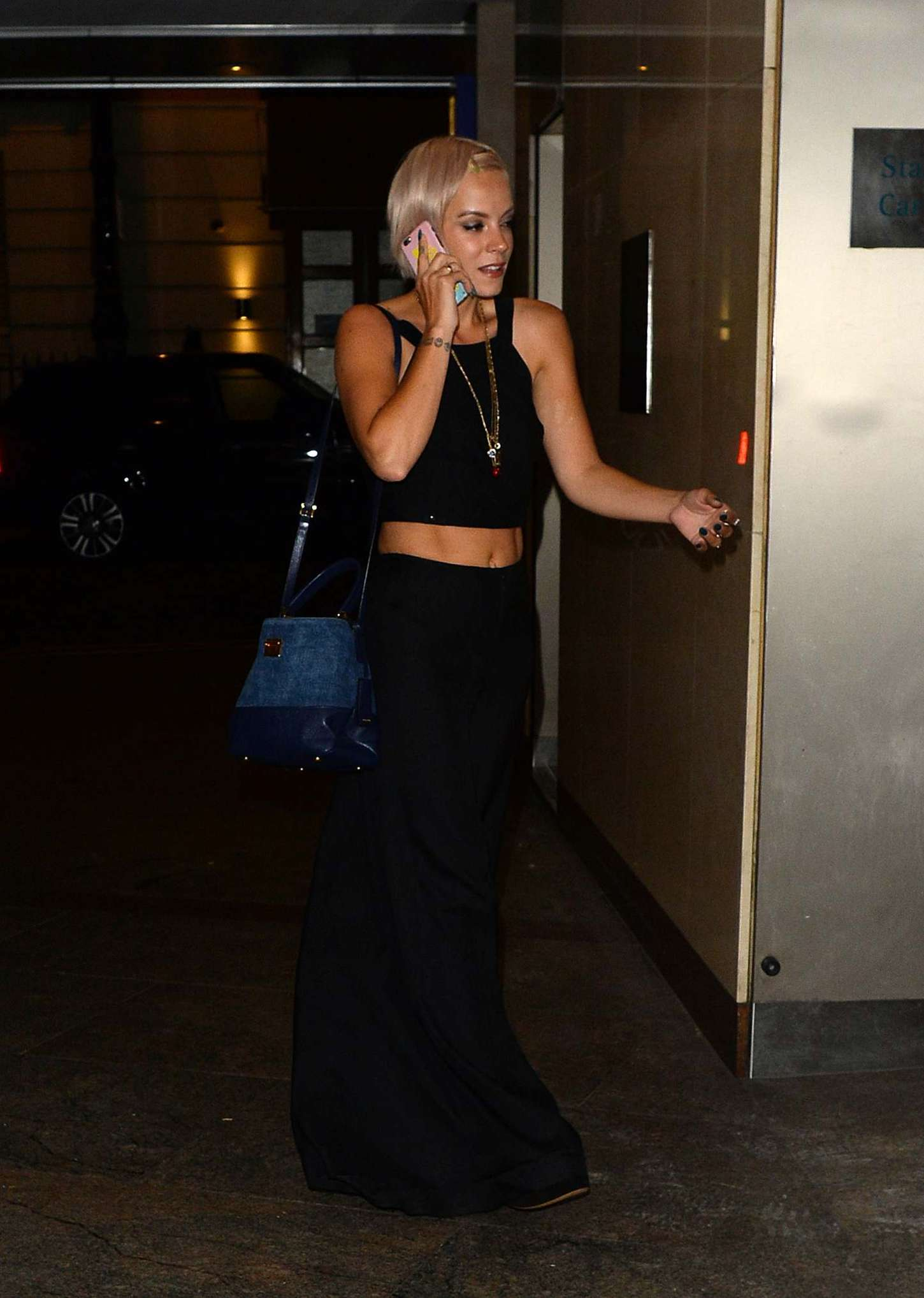 Lily Allen Leaving Colony Club in Mayfair