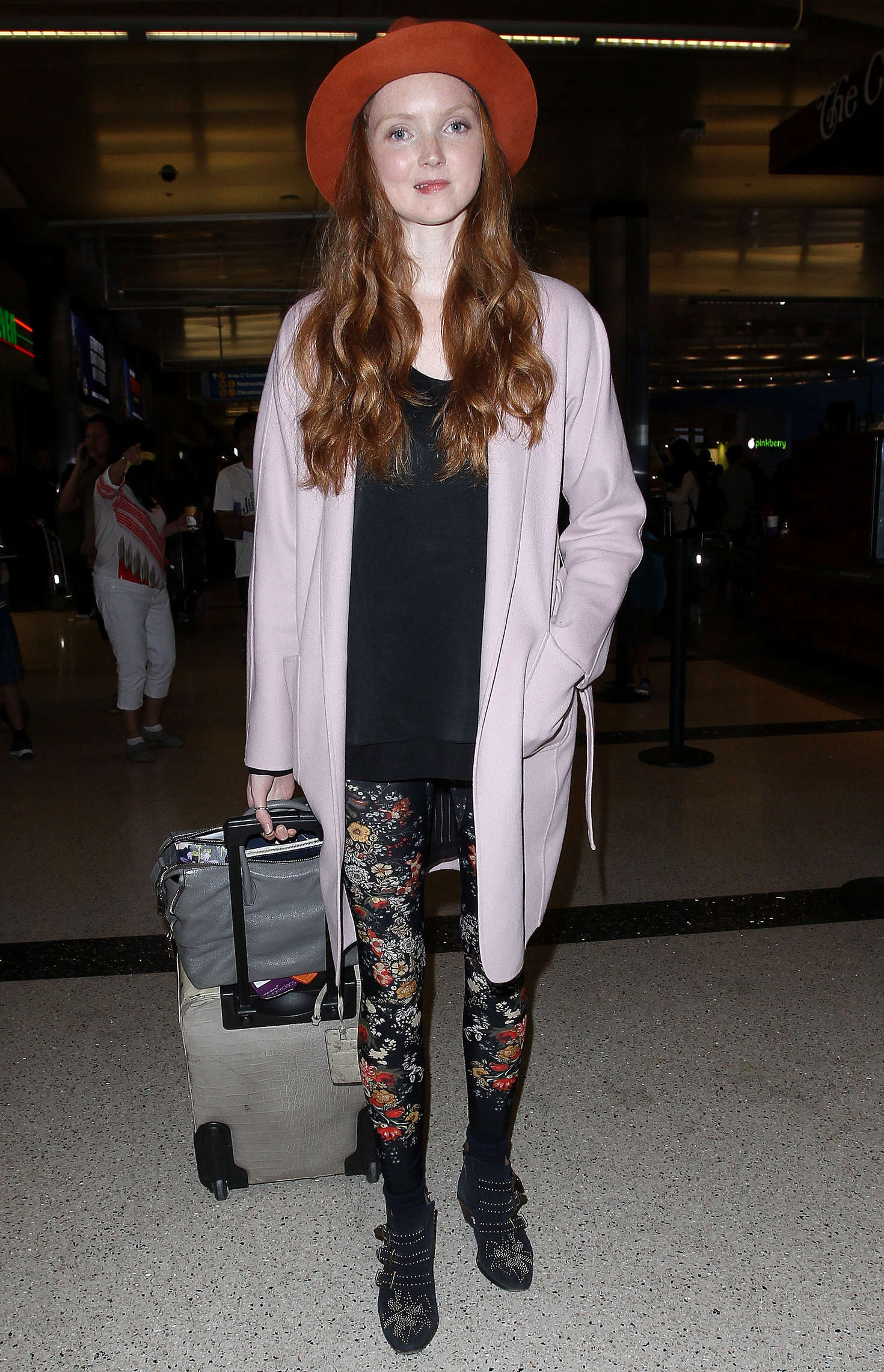 Lily Cole Arriving at the Los Angeles International Airport