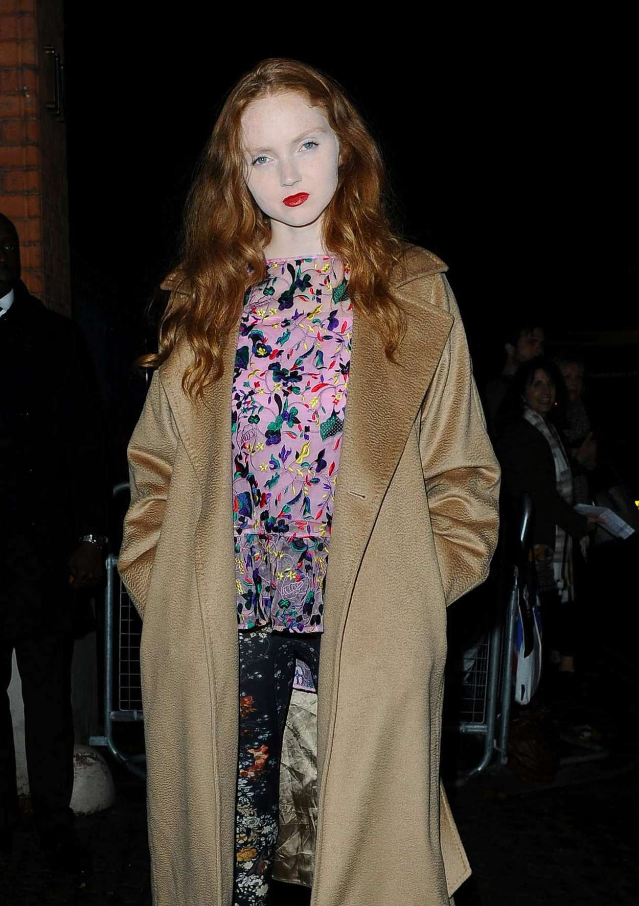 Lily Cole Leaving The Erdem Green Party in London