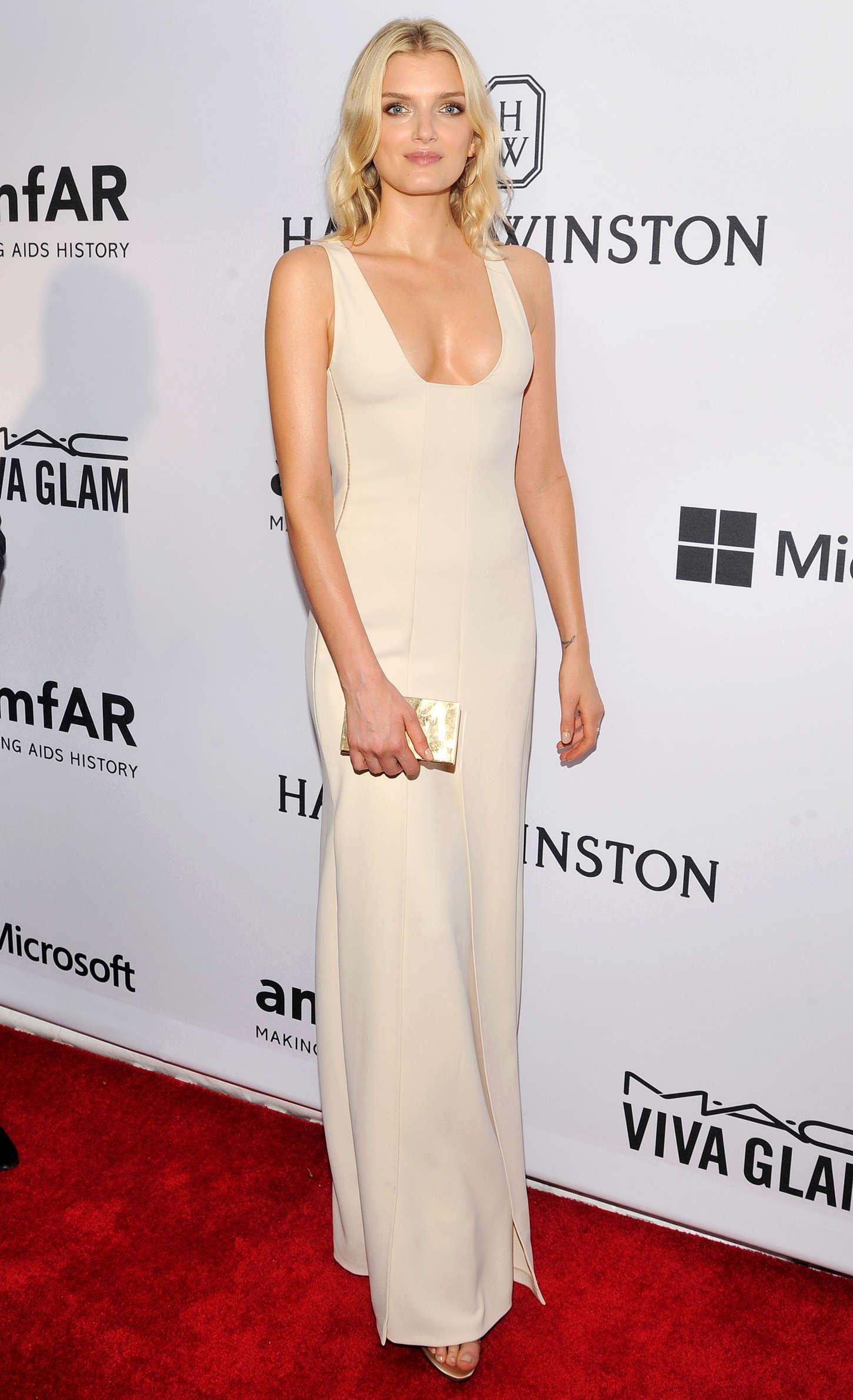 Lily Donaldson amfAR Inspiration Gala in New York