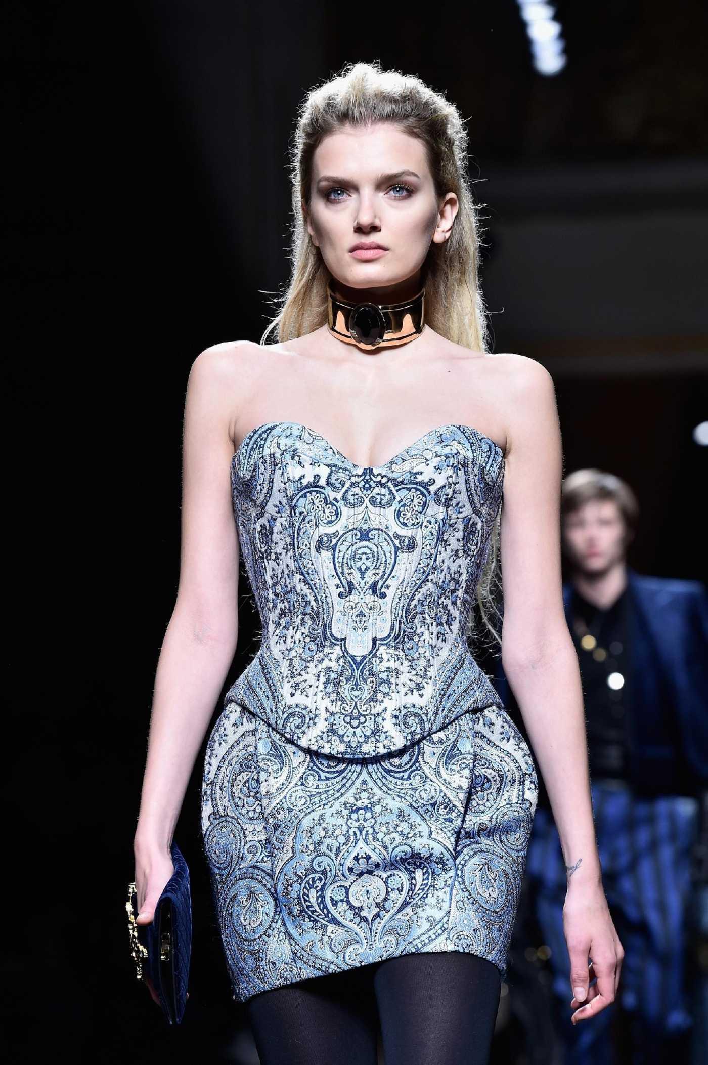 Lily Donaldson Balmain Fashion Show in Paris