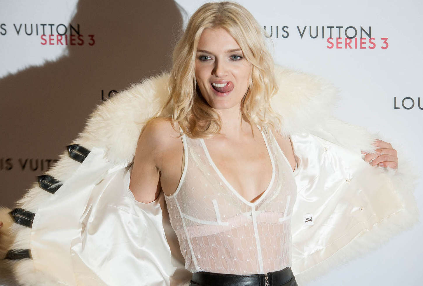 Lily Donaldson Louis Vuitton Series Gala at LFW in London